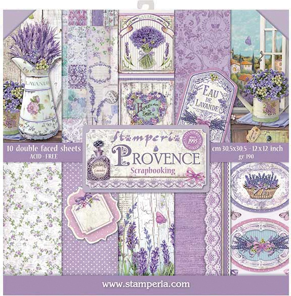 Stamperia Double-Sided Paper Pad 12X12 10/Pkg-Provence, 10 Designs/1 Each