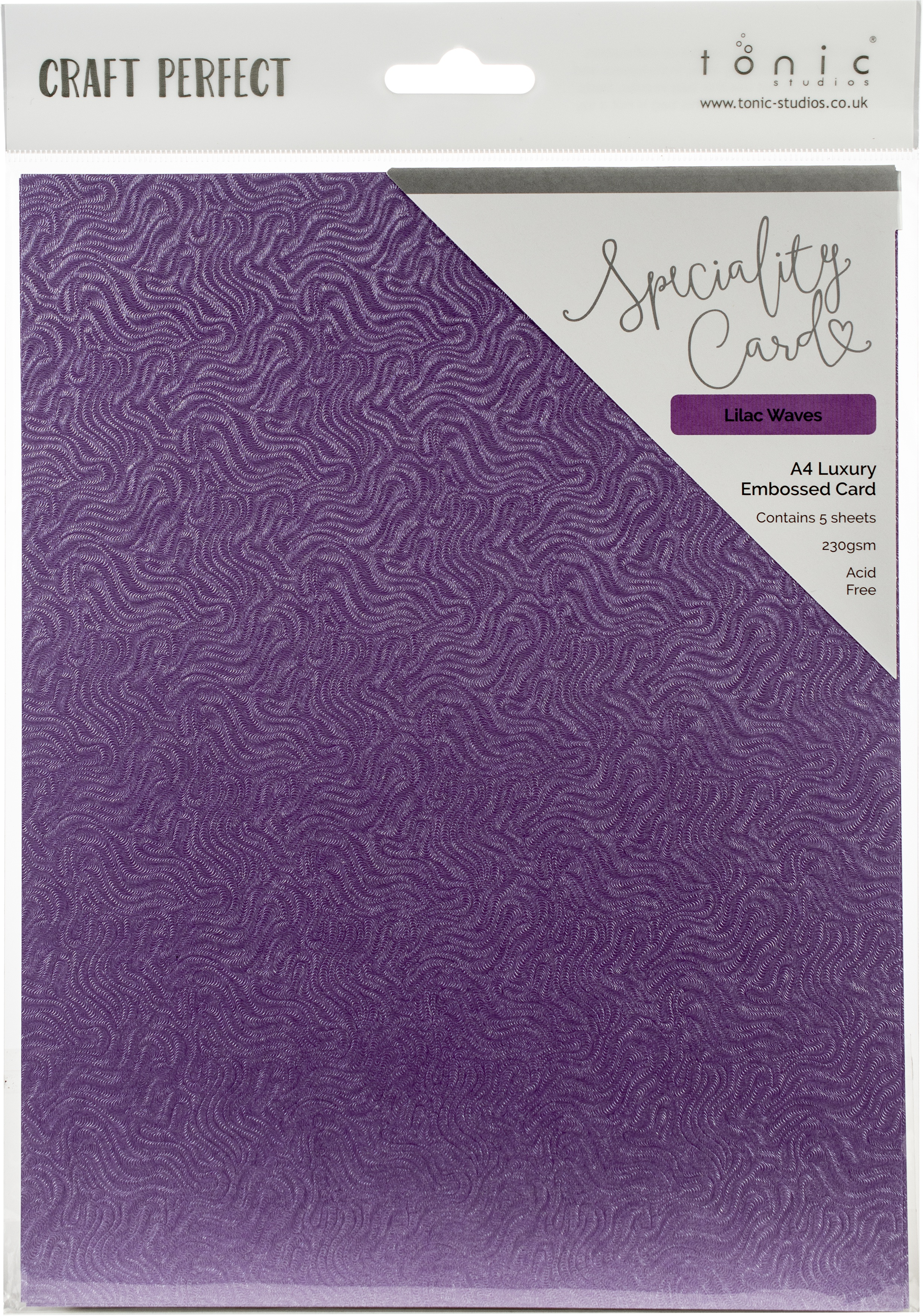 CP Cardstock 8.5x11 Lilac Waves