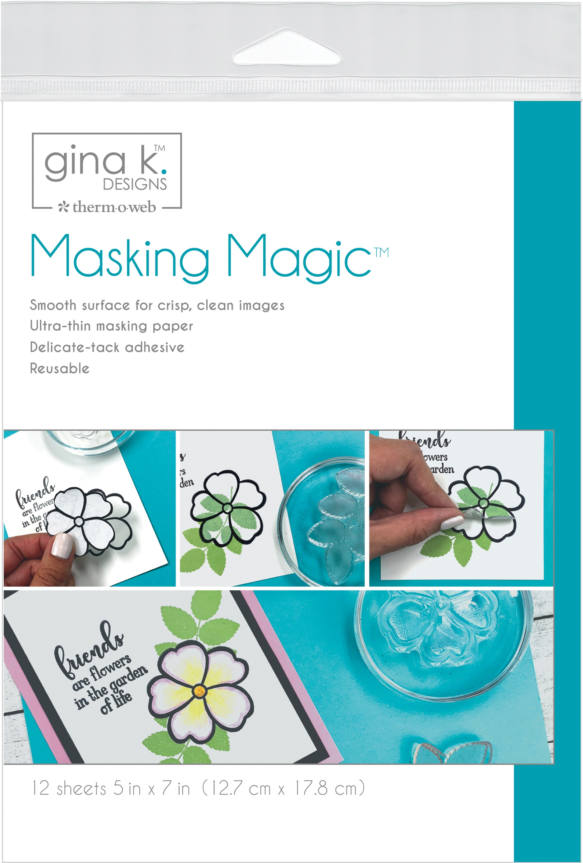 Gina K Designs Masking Magic Sheets 5X7 12/Pkg-