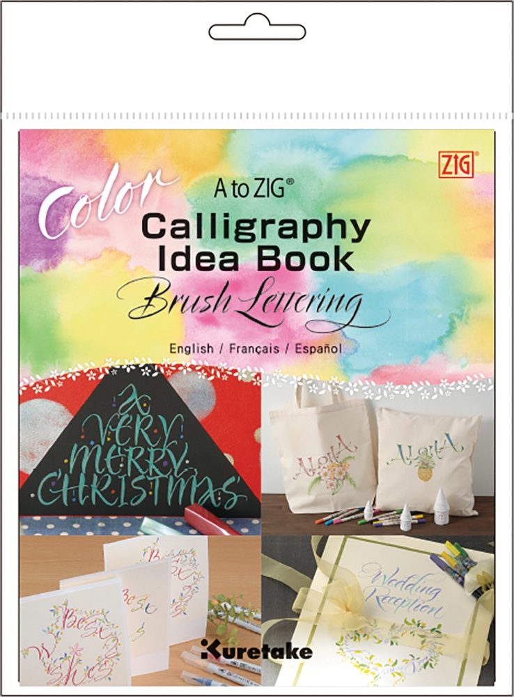 A to ZIG Calligraphy Idea Book-Color Brush Lettering-