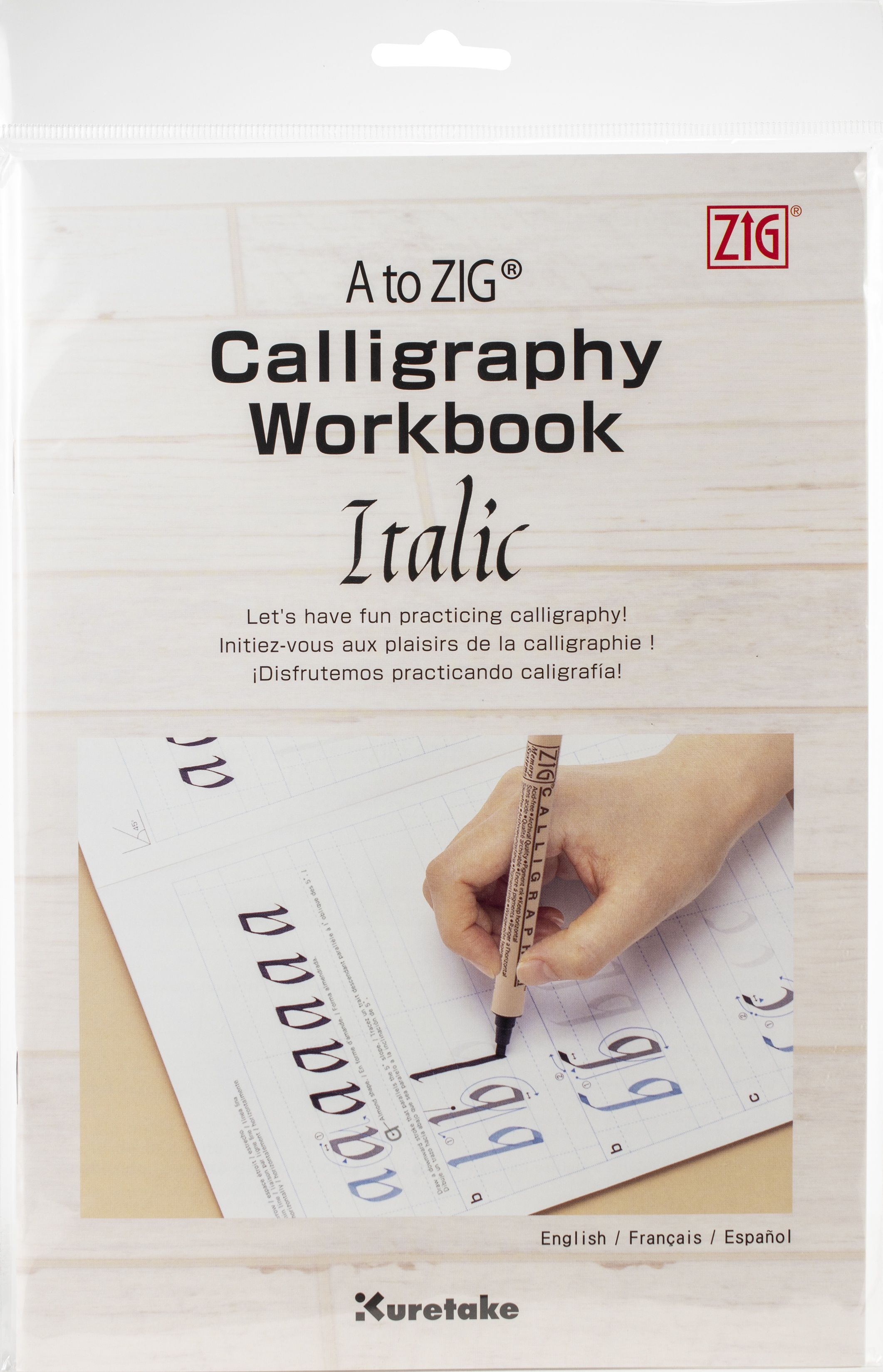 A to ZIG Calligraphy Workbook-Italic-