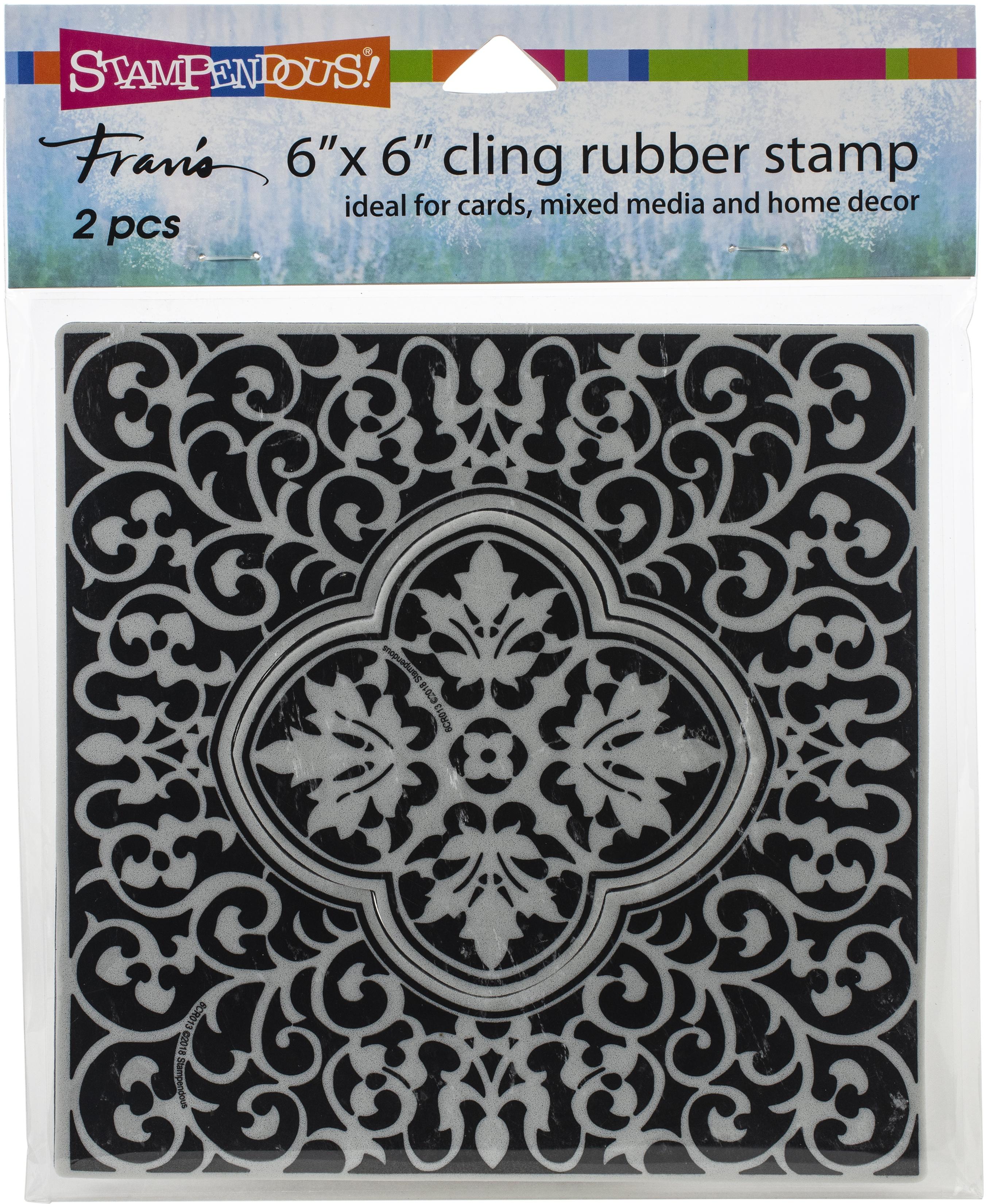 Stampendous Cling Stamps-Taj Tile