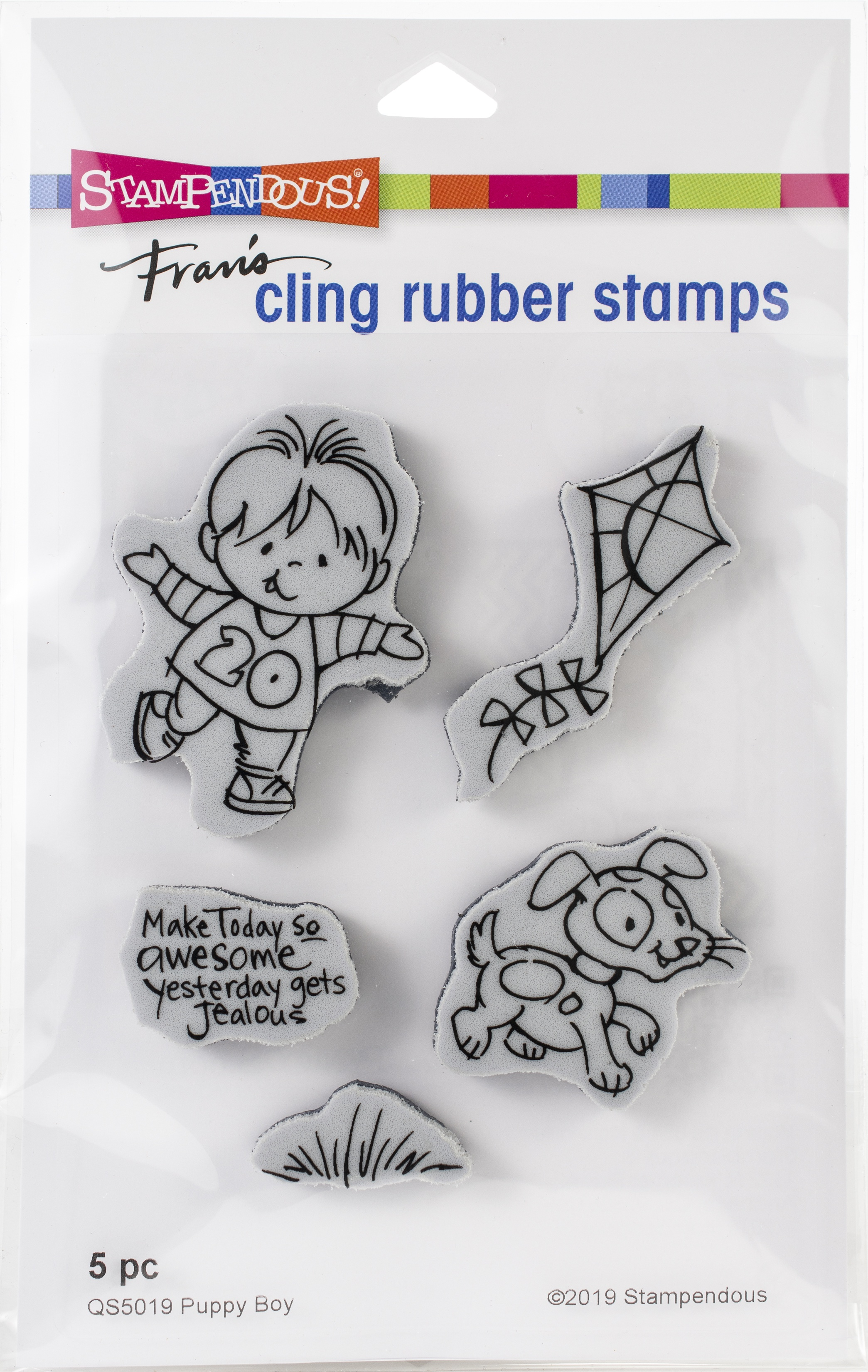 Stampendous Fran's Cling Rubber Stamps- Puppy Boy