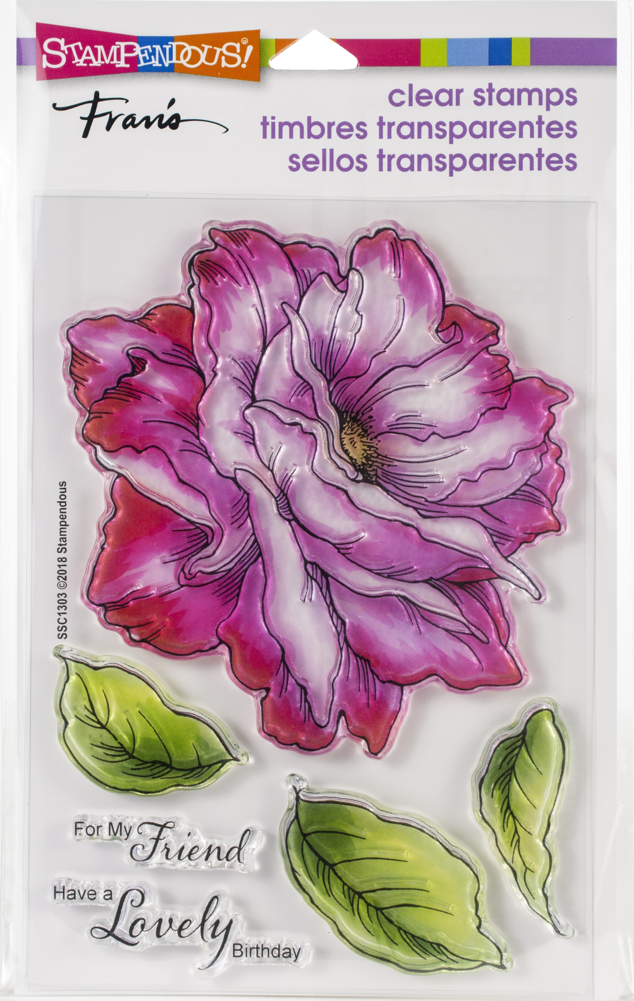 Stampendous Perfectly Clear Stamps-Rose Friend