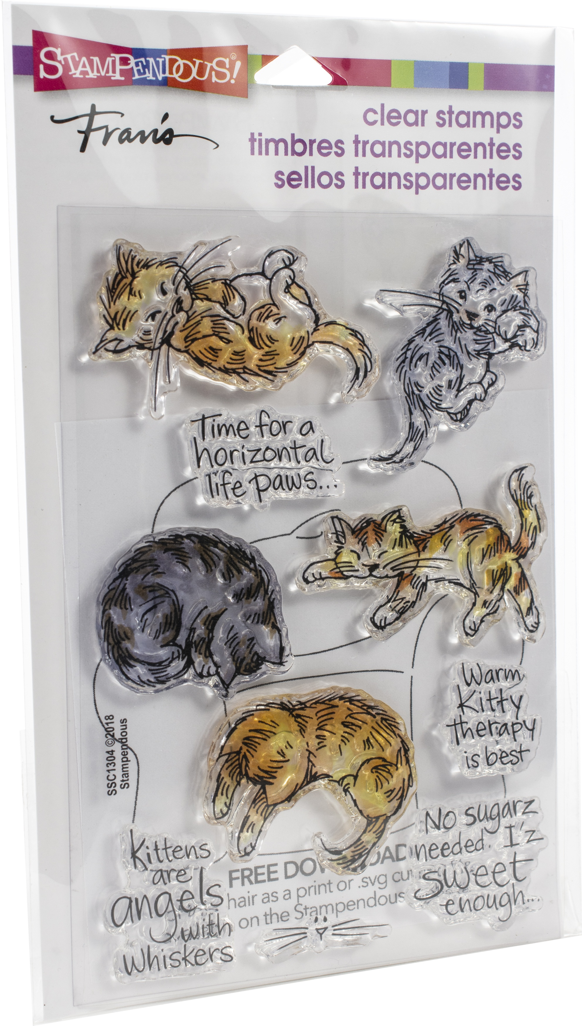 Stampendous Perfectly Clear Stamps-Kitty Therapy