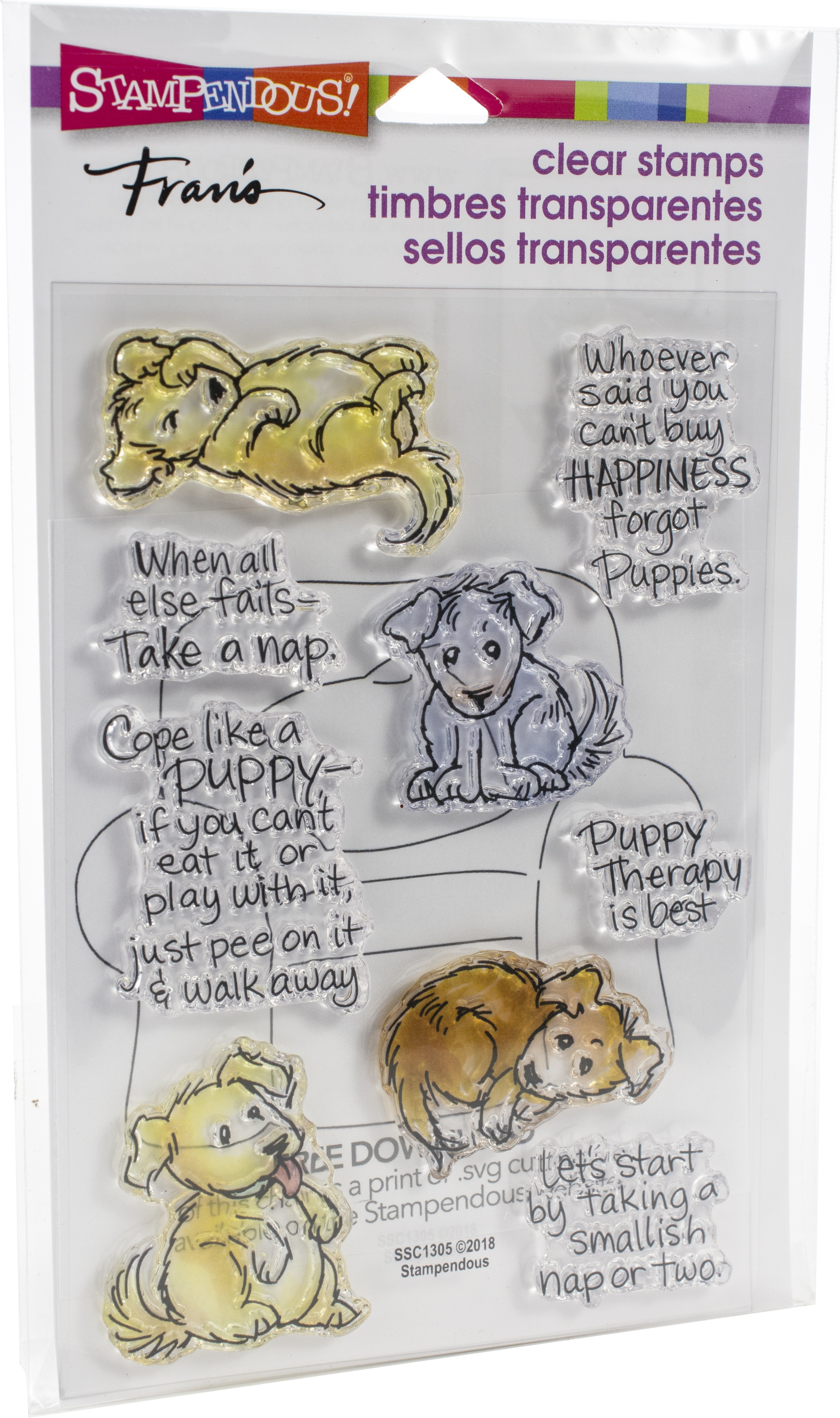 Stampendous Perfectly Clear Stamps-Puppy Therapy