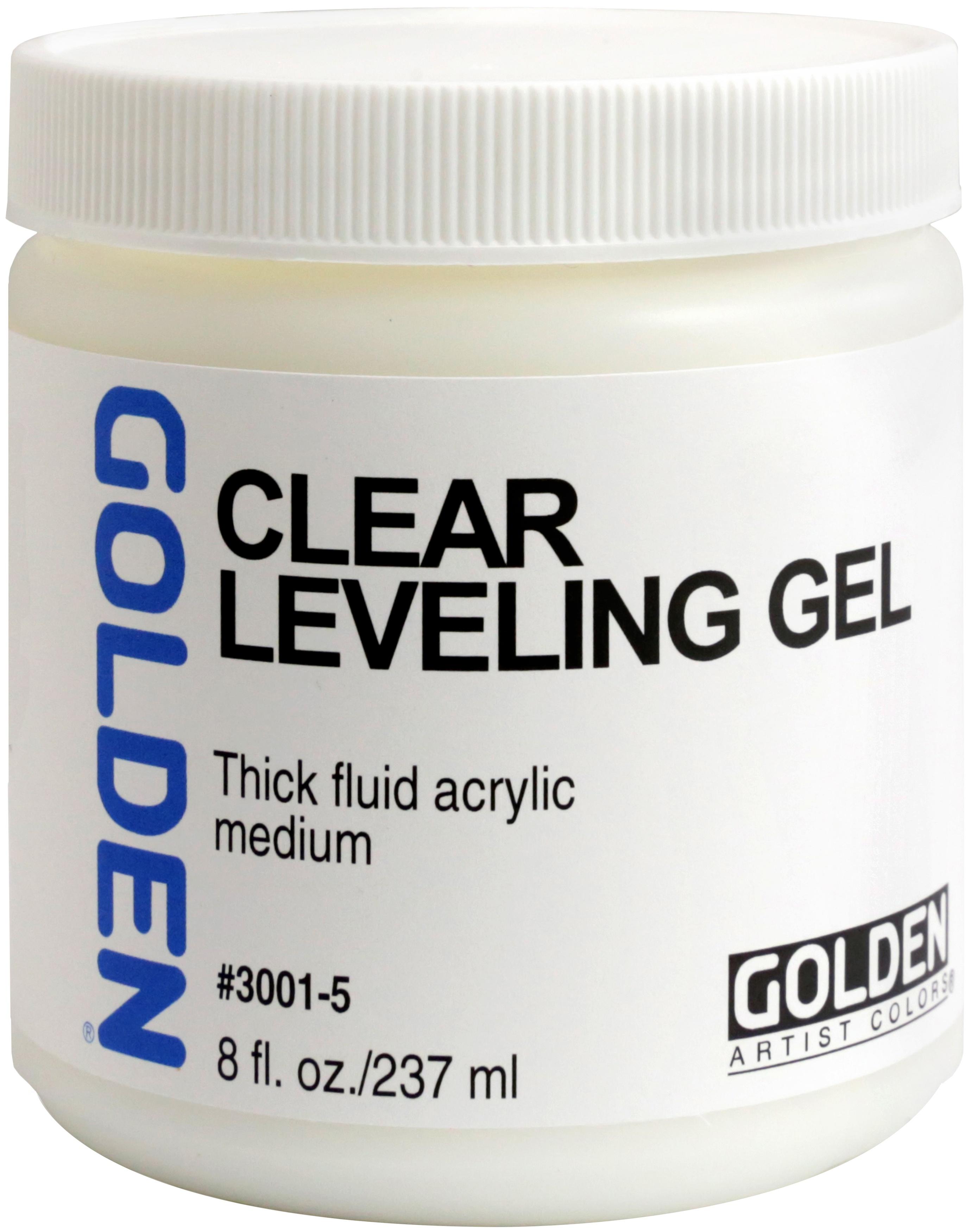 Golden Acrylic Gel Medium 8oz-Clear Leveling Gel