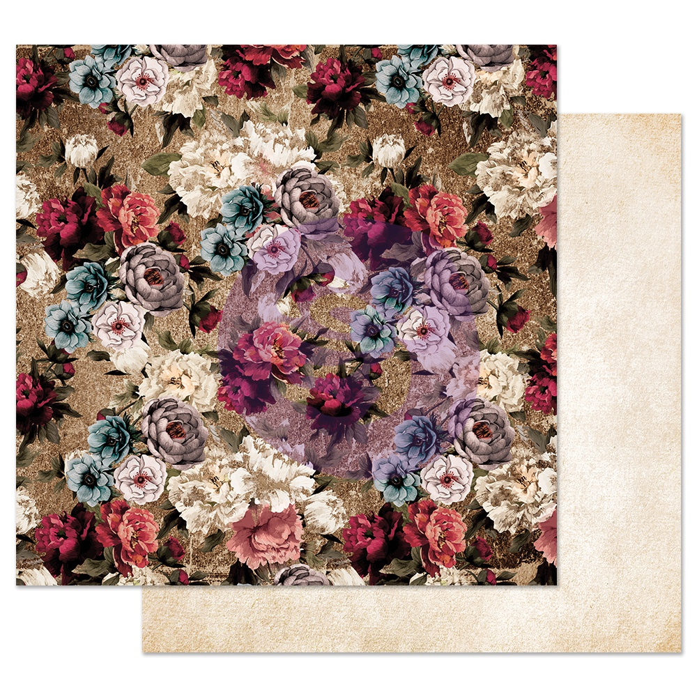 Prima Marketing Midnight Garden Double-Sided Cardstock 12X12-More Roses Please