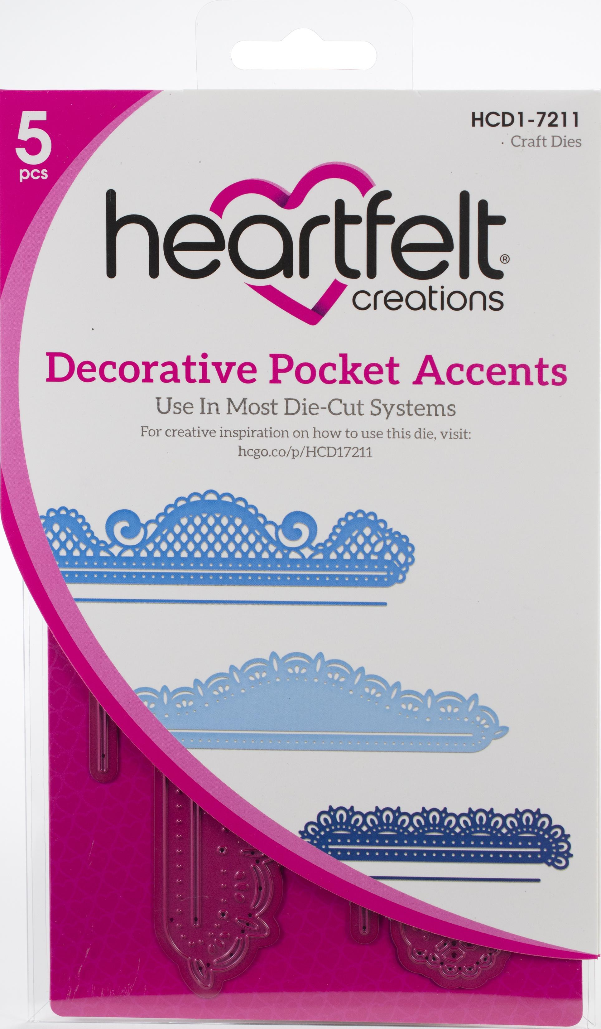 Heartfelt Creations Decorative Pocket Accents Die