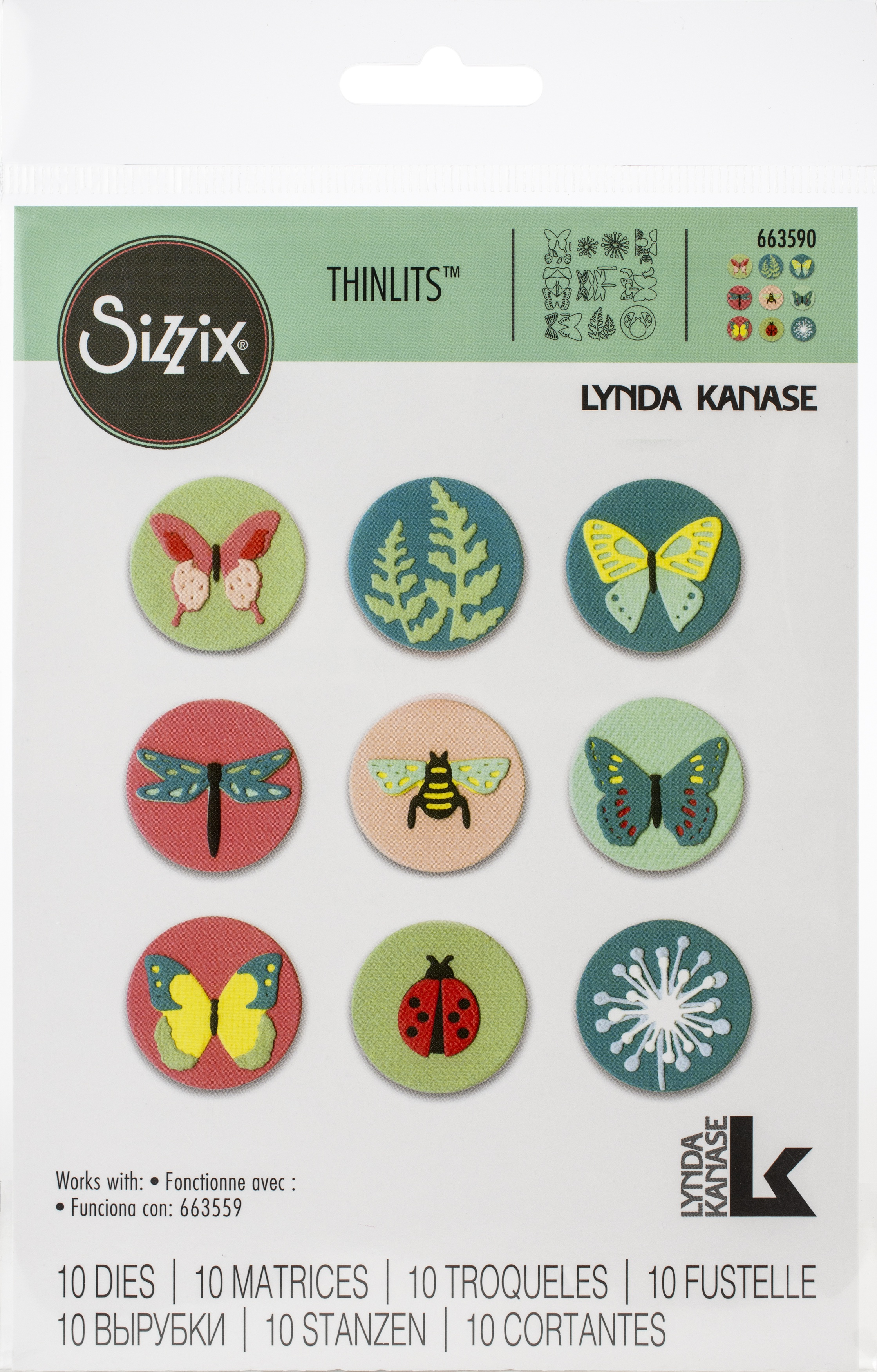 Sizzix Thinlits Dies By Lynda Kanase 10/Pkg-Tiny Nature