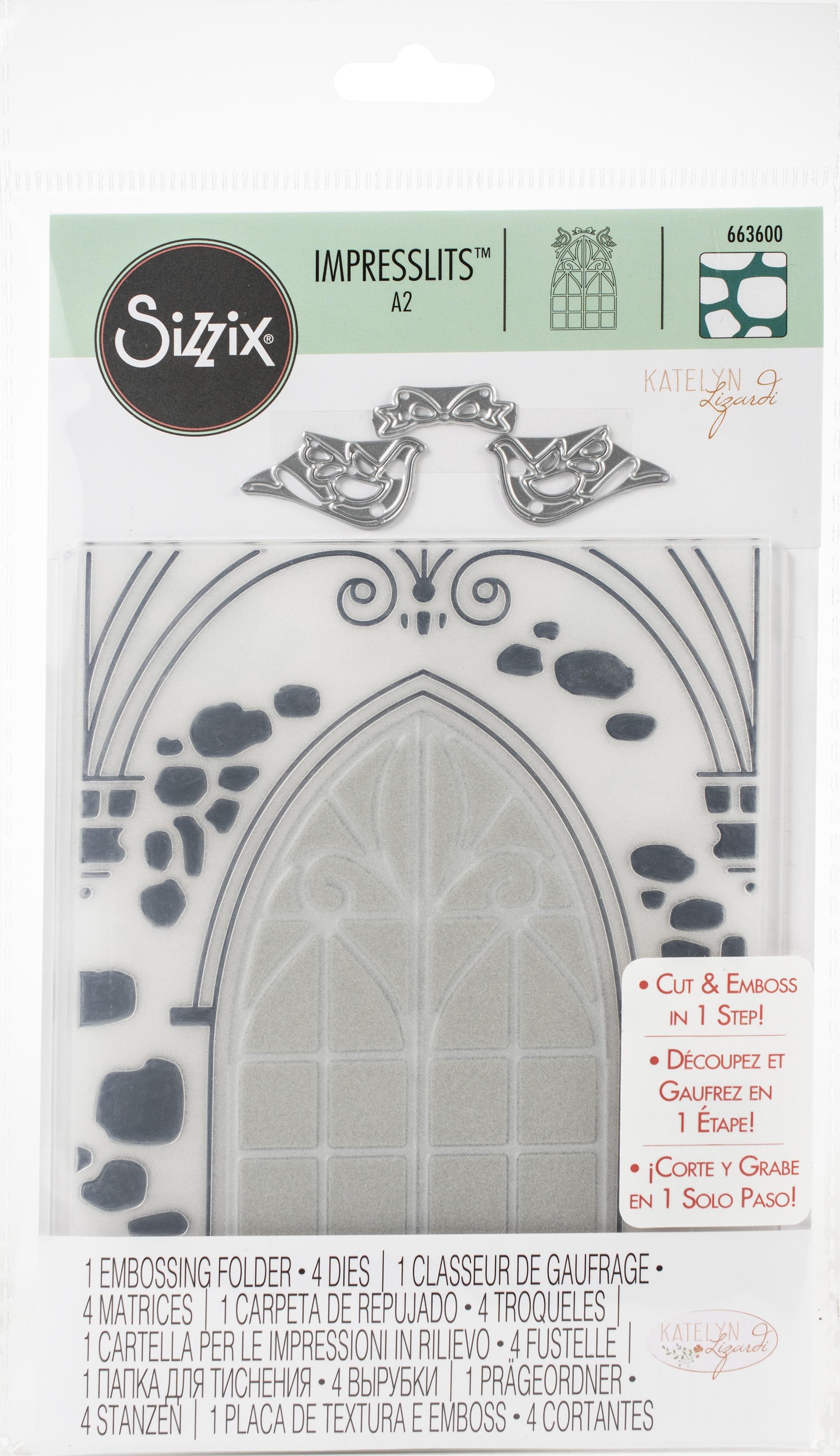 Sizzix Impresslits Embossing Folder By Katelyn Lizardi-Wedding Window
