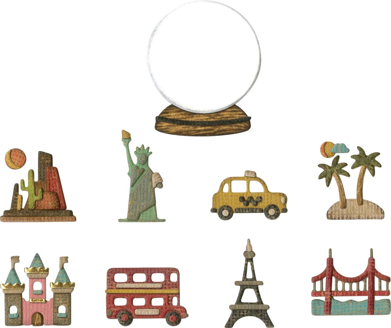 Tiny Travel Globe Die Set