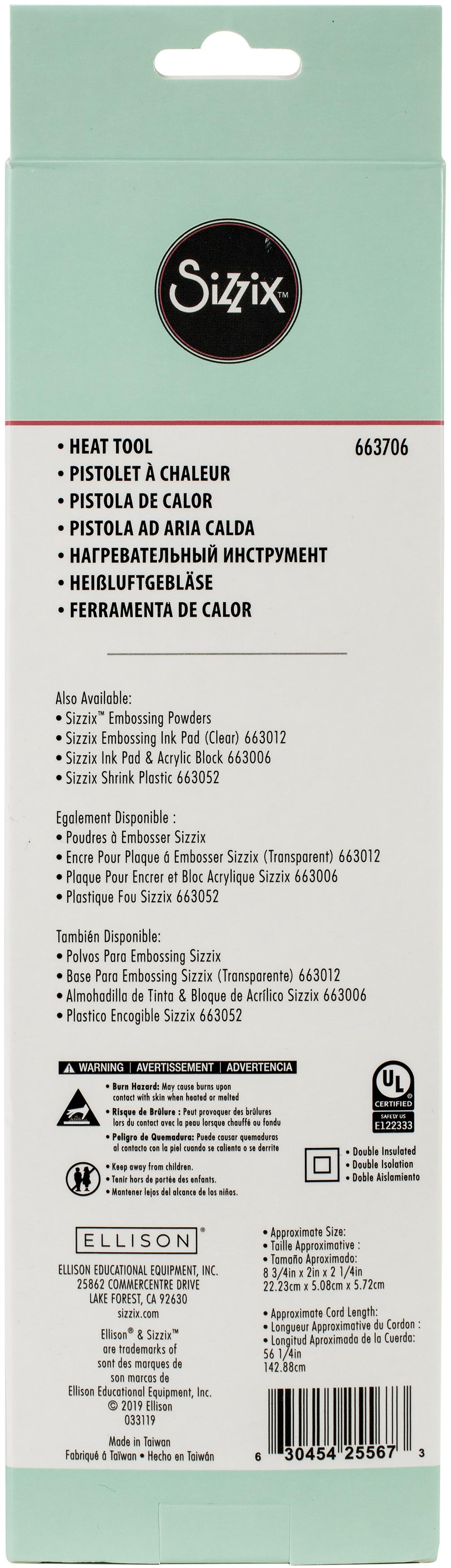 Sizzix Heating Tool US Version-