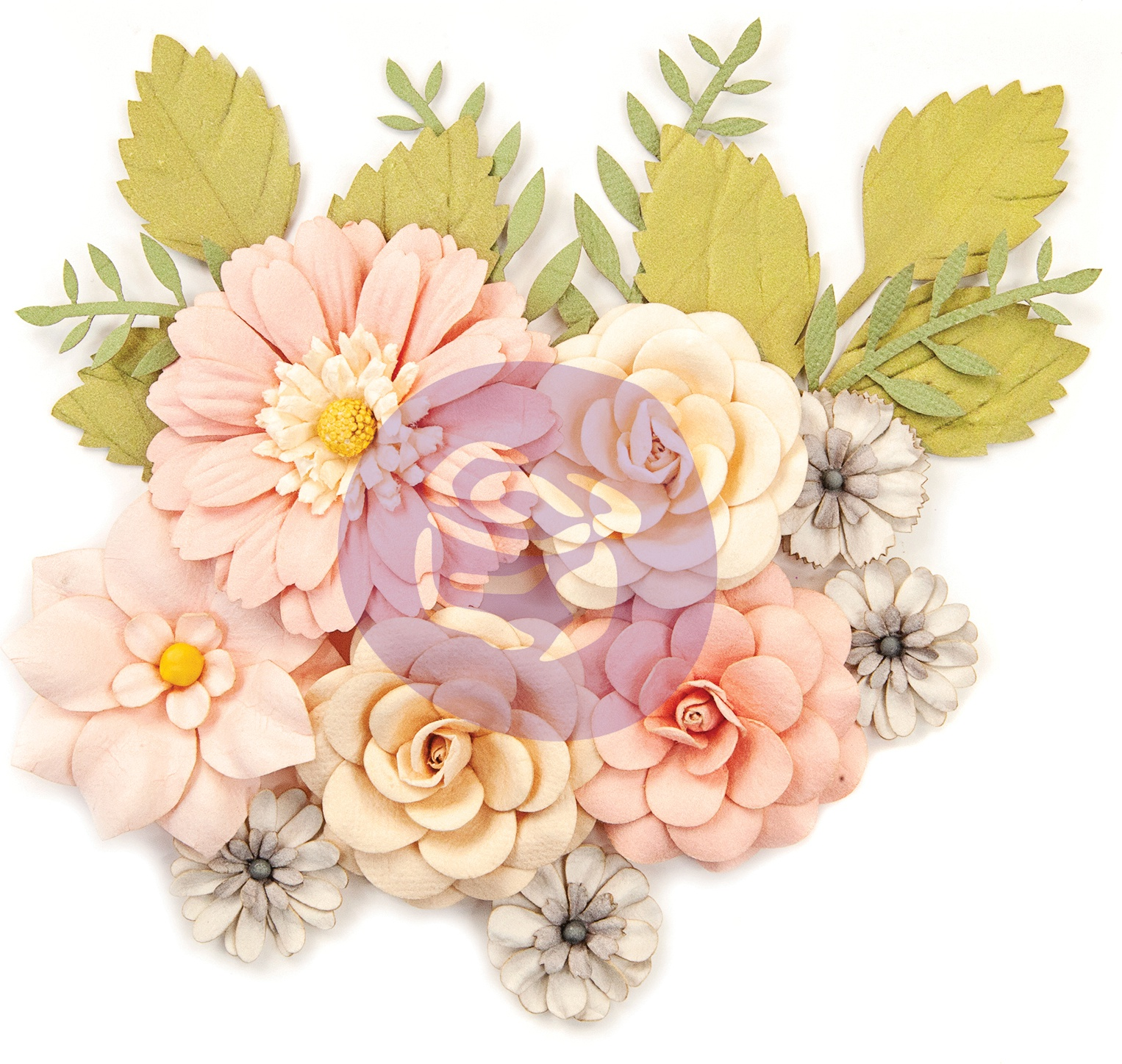 Prima Marketing Spring Farmhouse Mulberry Paper Flowers 15/P-Everyday Beauty