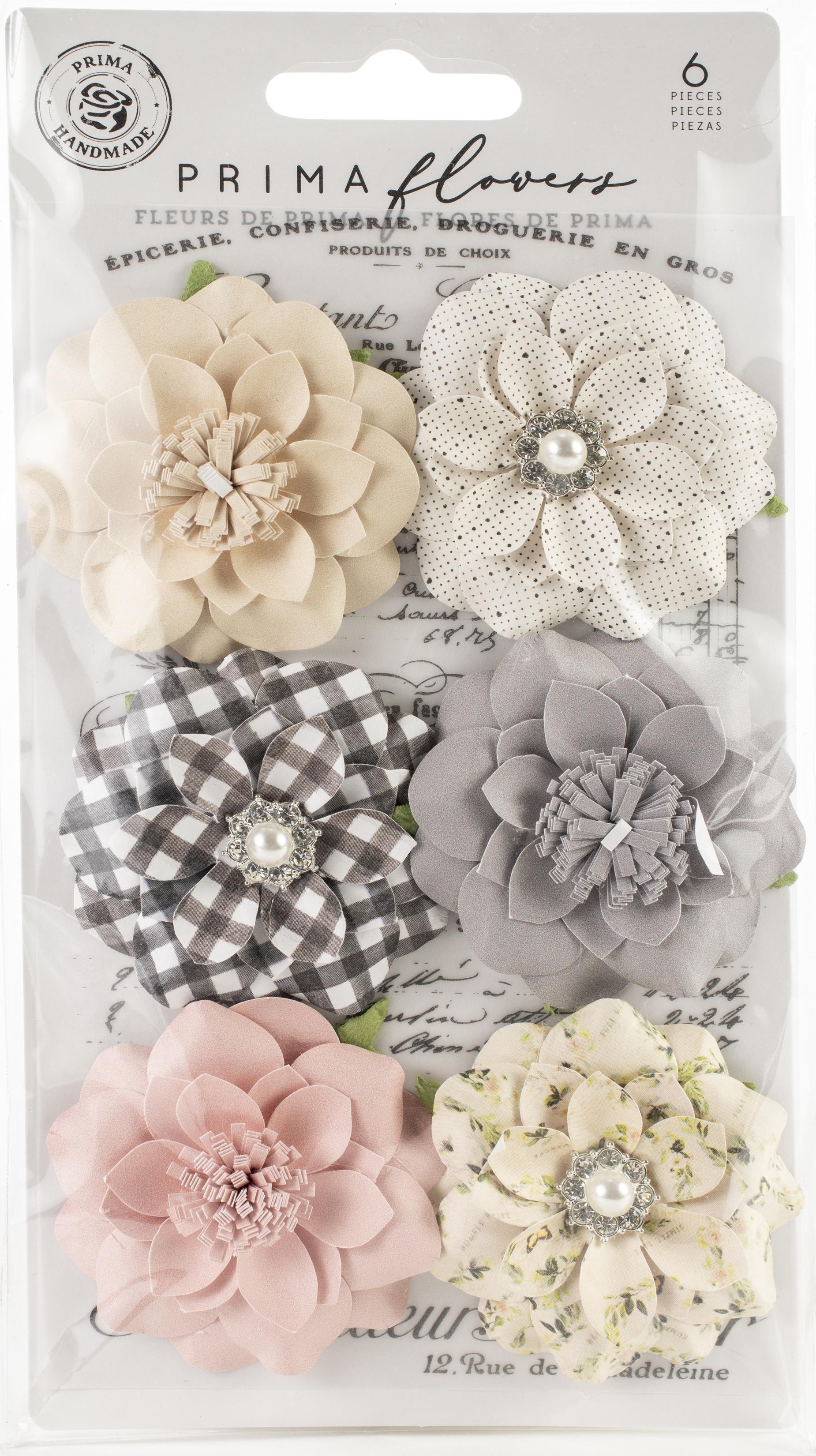 Prima Marketing Mulberry Paper Flowers  -Blessings/Spring Farmhouse, 6/Pkg