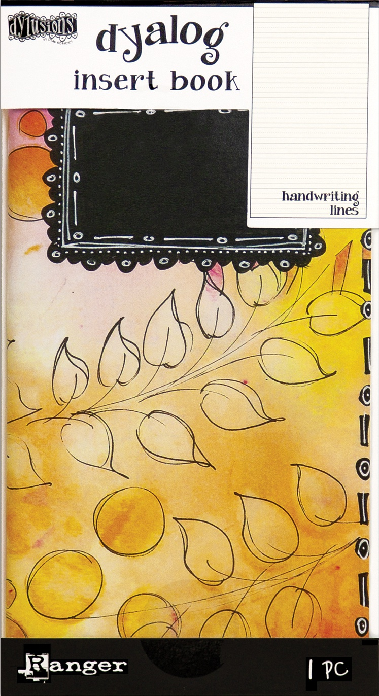 Dyan Reaveley's Dylusions Dyalog Insert Book 4.375X8.25-Handwriting Lines #2