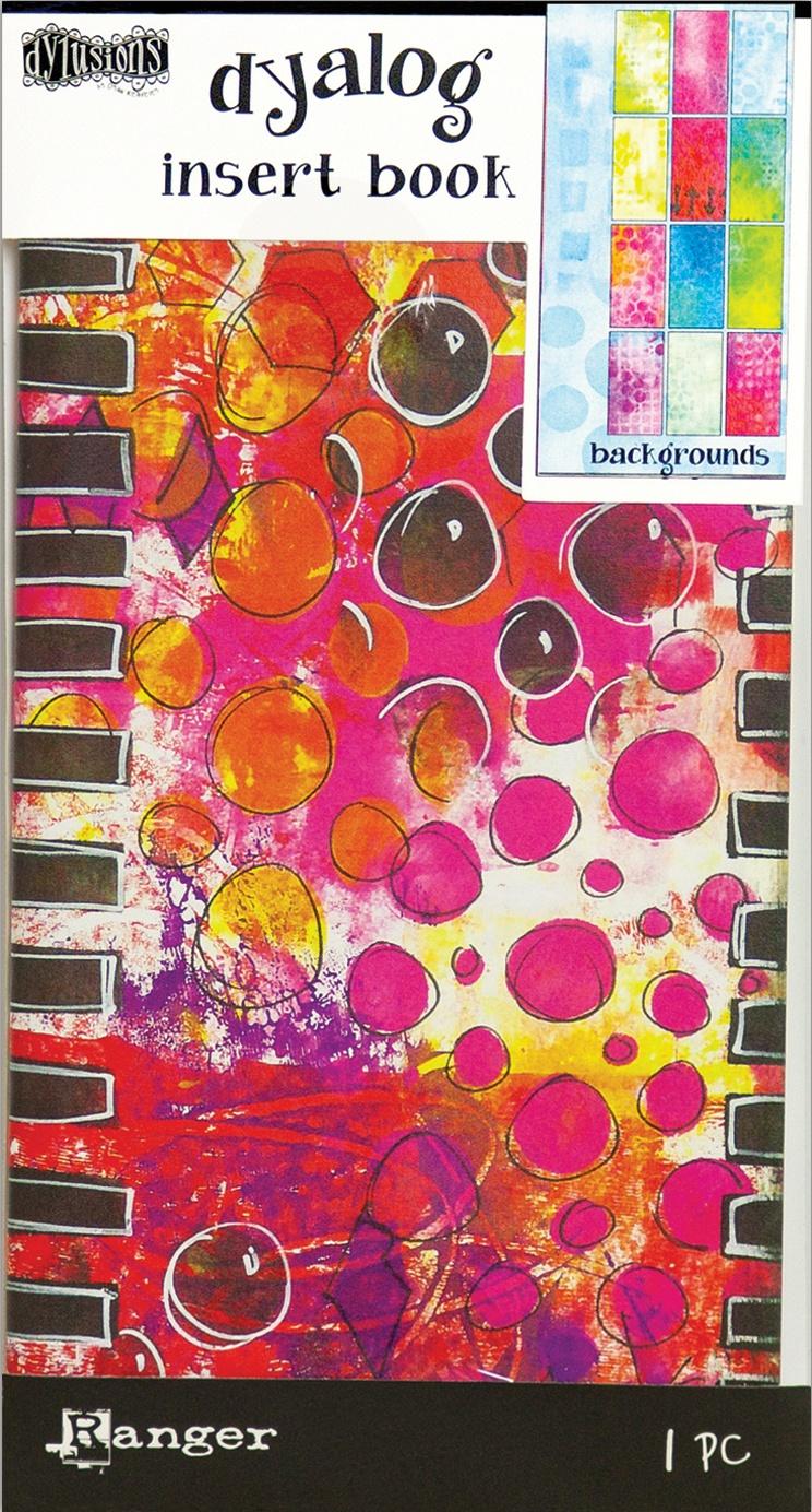 Dyan Reaveley's Dylusions Dyalog Insert Book 4.375X8.25-Backgrounds #2