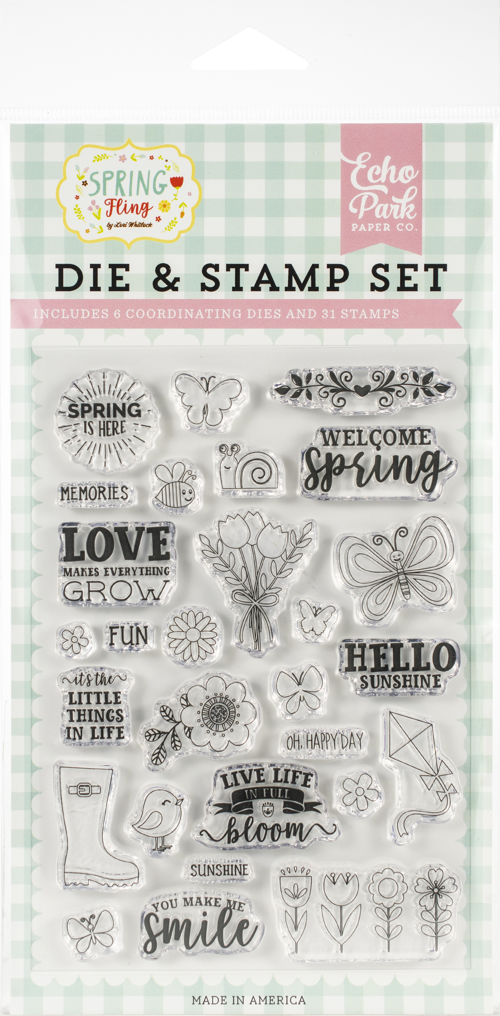 Echo Park Spring is Here  Die/Stamp Set