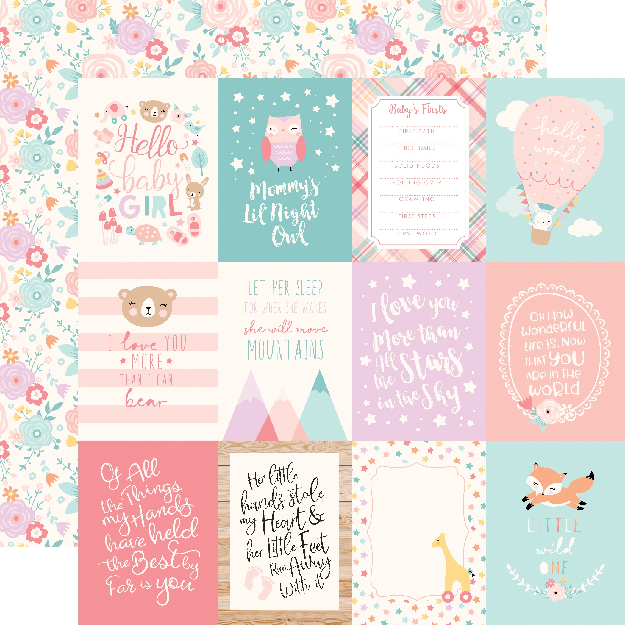 PPR - HELLO BABY IT'S A GIRL GIRL 3X4 JOURNALING CARDS