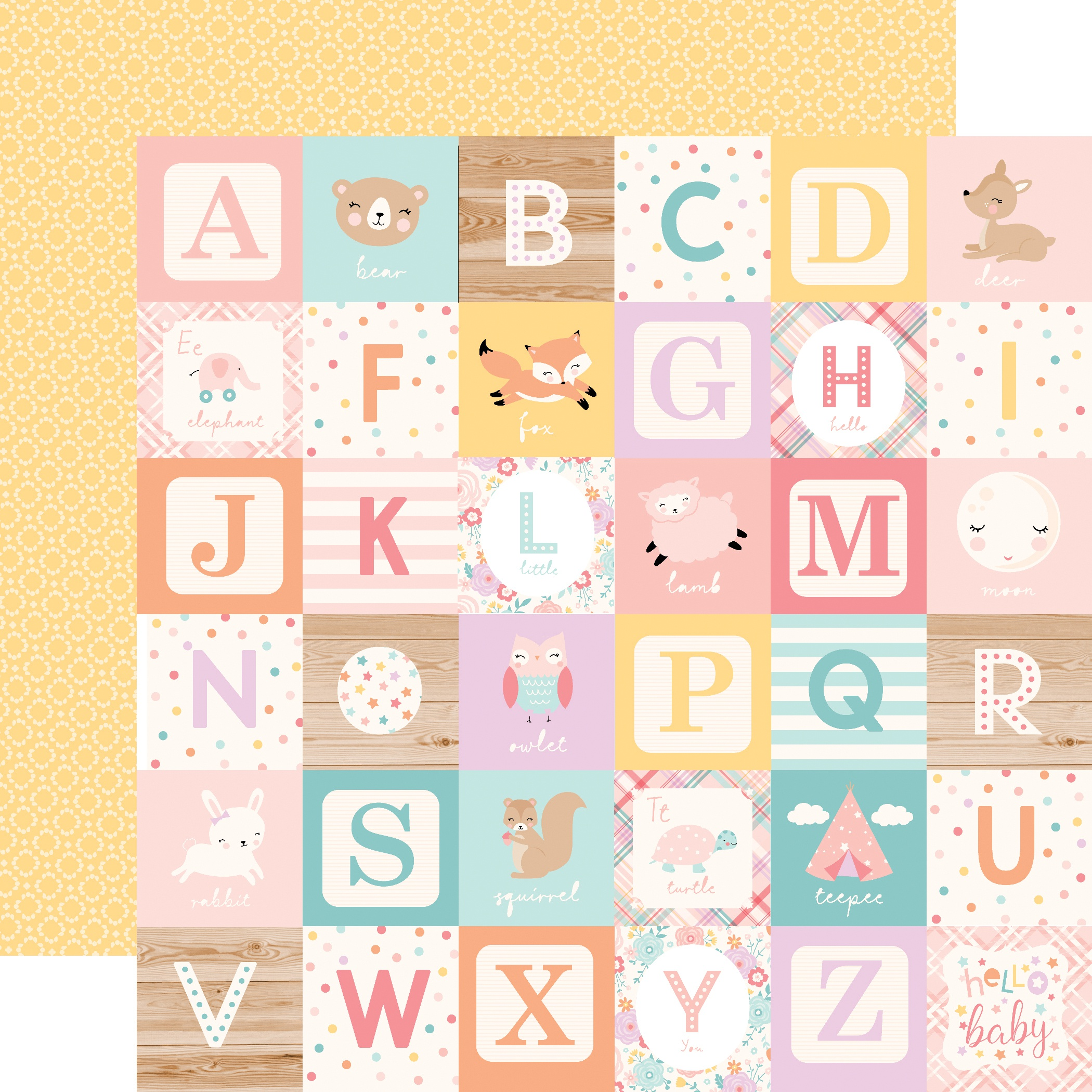 PPR - HELLO BABY IT'S A GIRL ALPHABET BLOCKS