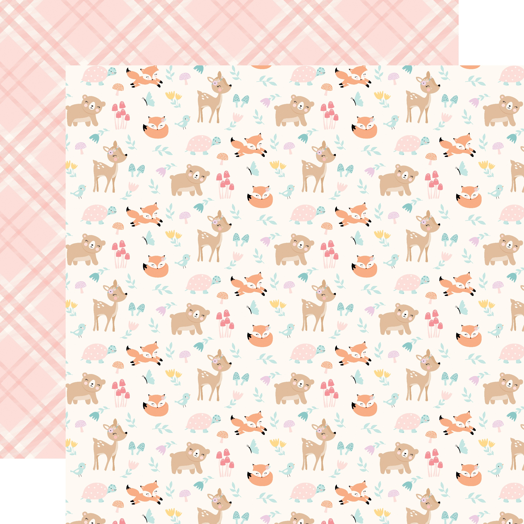 PPR - HELLO BABY IT'S A GIRL WOODLAND FRIENDS