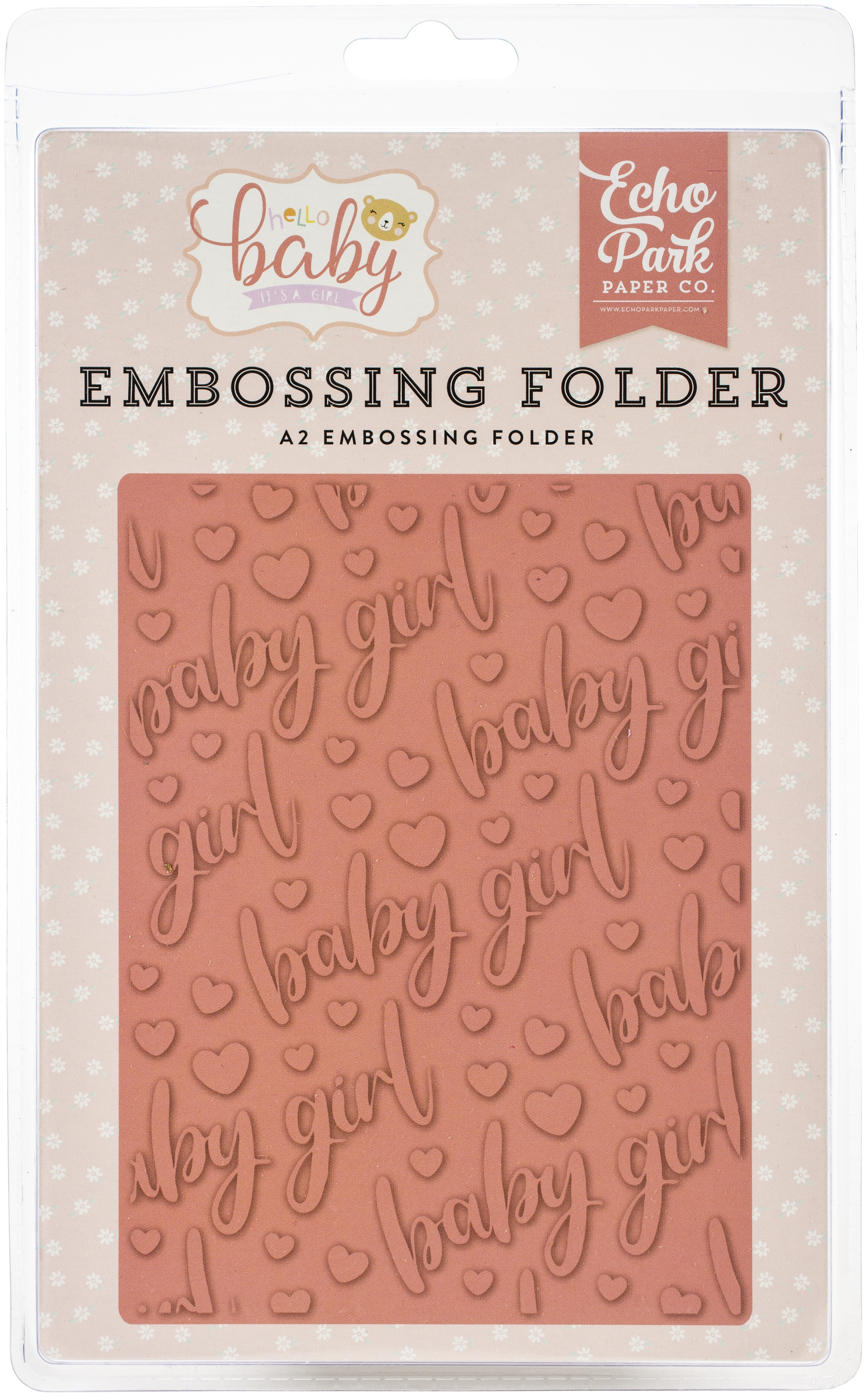 EMBOSSING FOLDER - HELLO BABY IT'S A GIRL