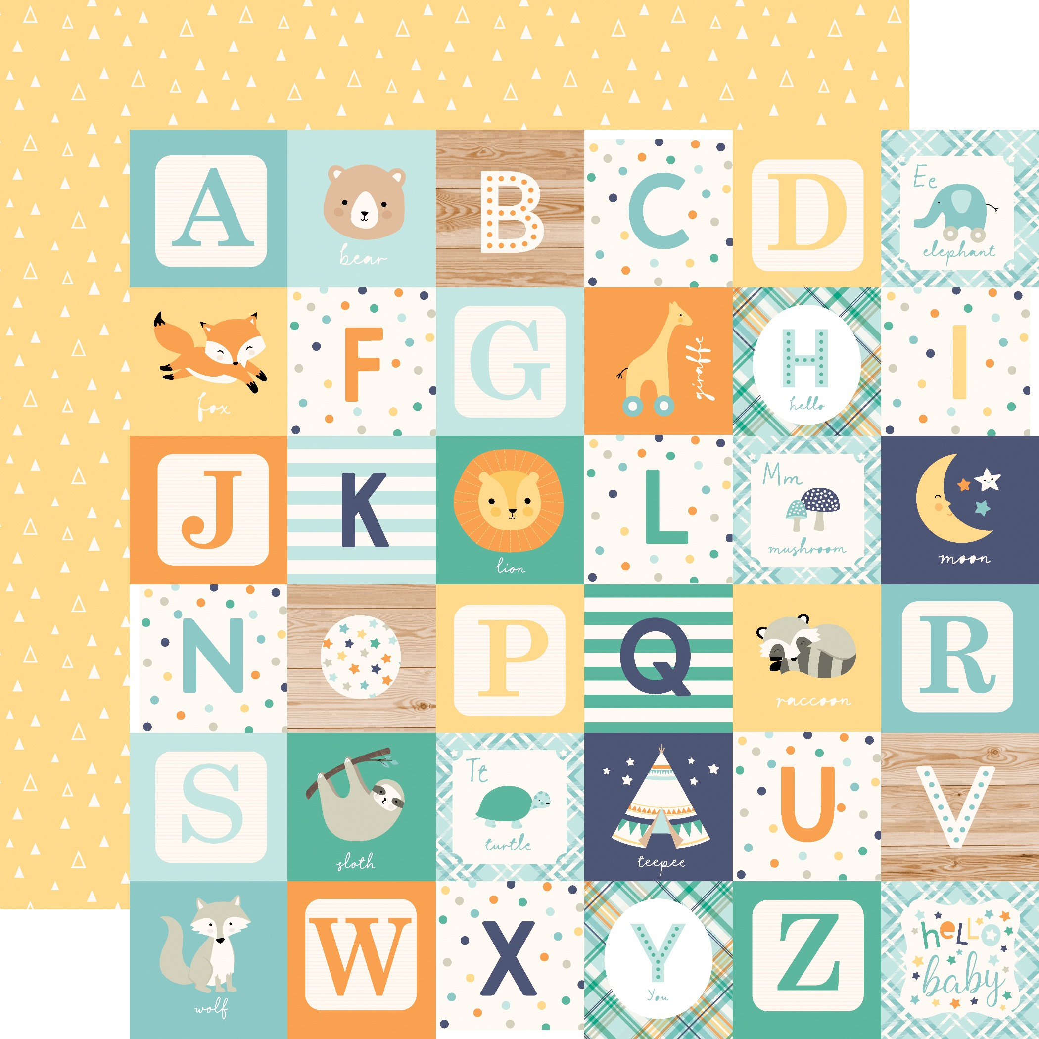 PPR - HELLO BABY IT'S A BOY LITTLE BOY ALPHABET BLOCKS