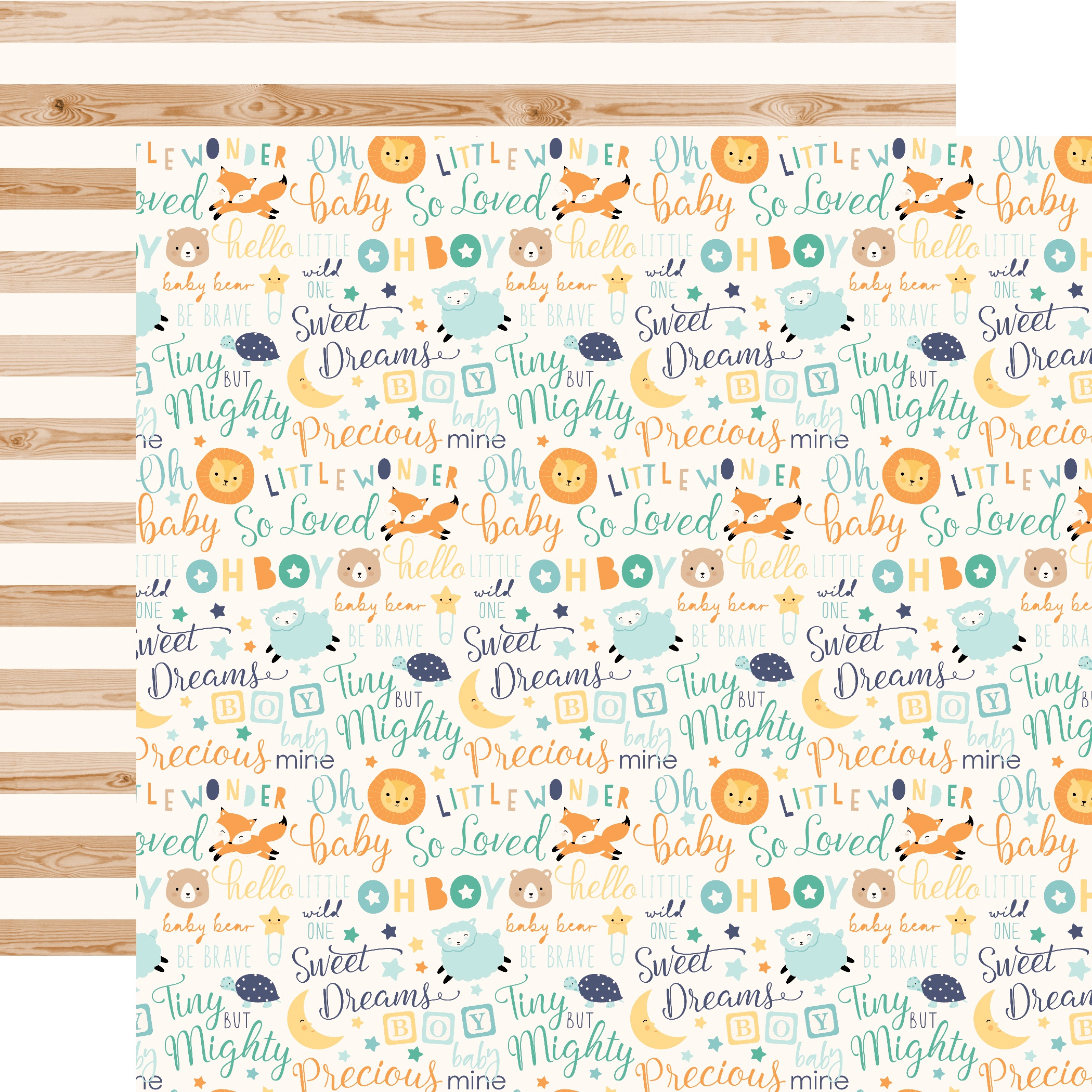 Hello Baby Boy Double-Sided Cardstock 12X12-Baby Boy Words