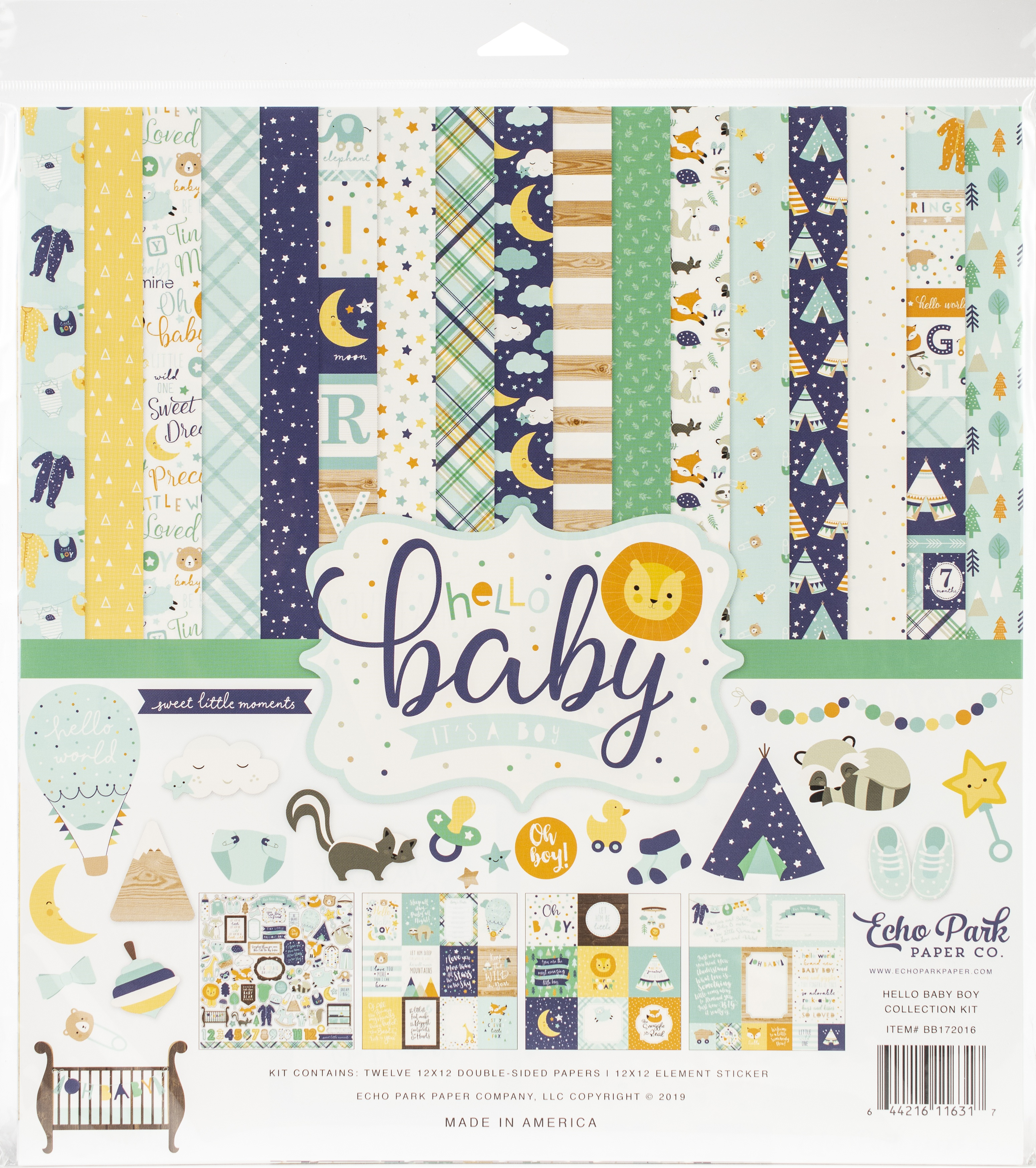 Echo Park Collection Kit 12X12-Hello Baby Boy