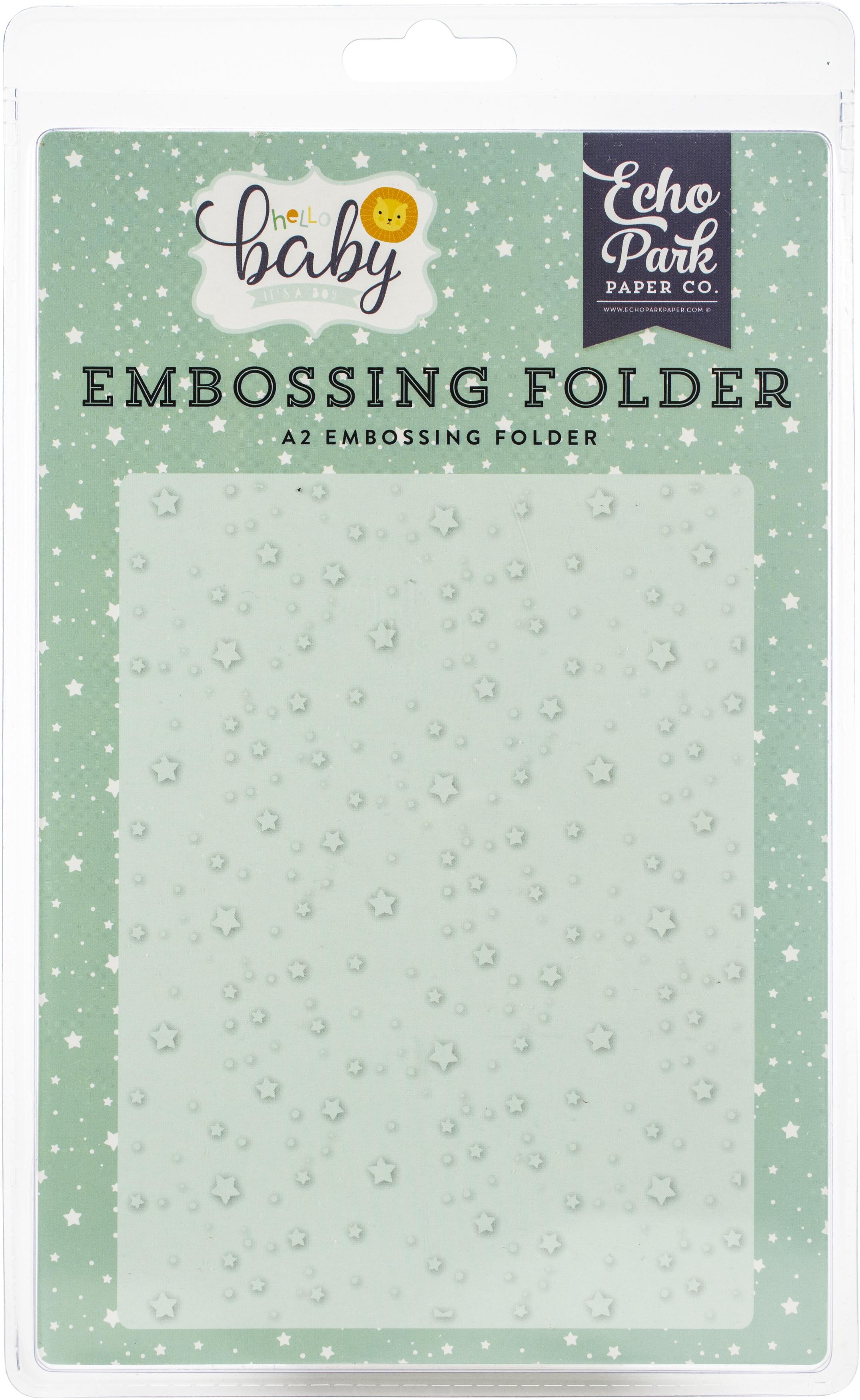 Echo Park Embossing Folder A2-Shining Stars