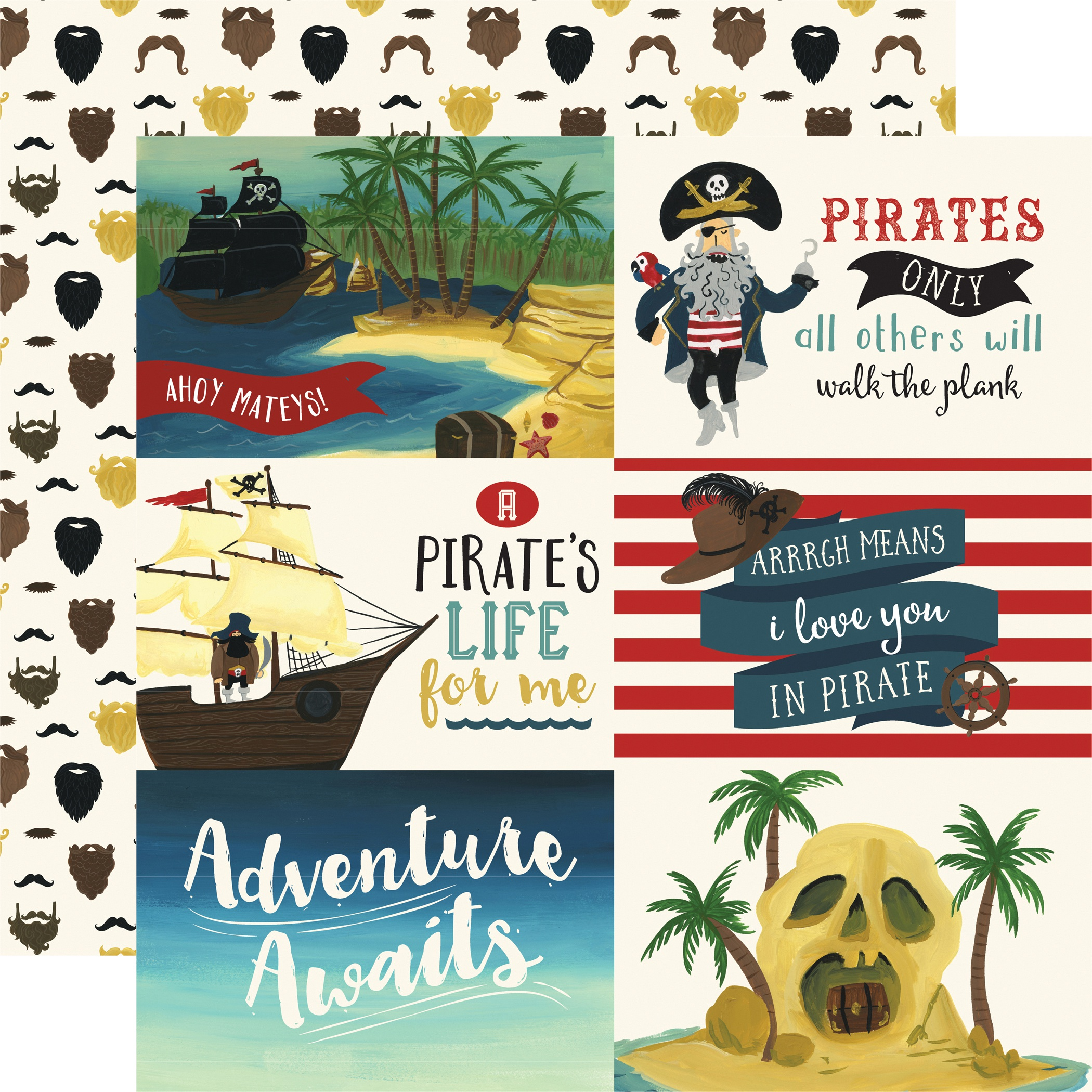 EP Pirate Tales 6x4 Journaling Cards