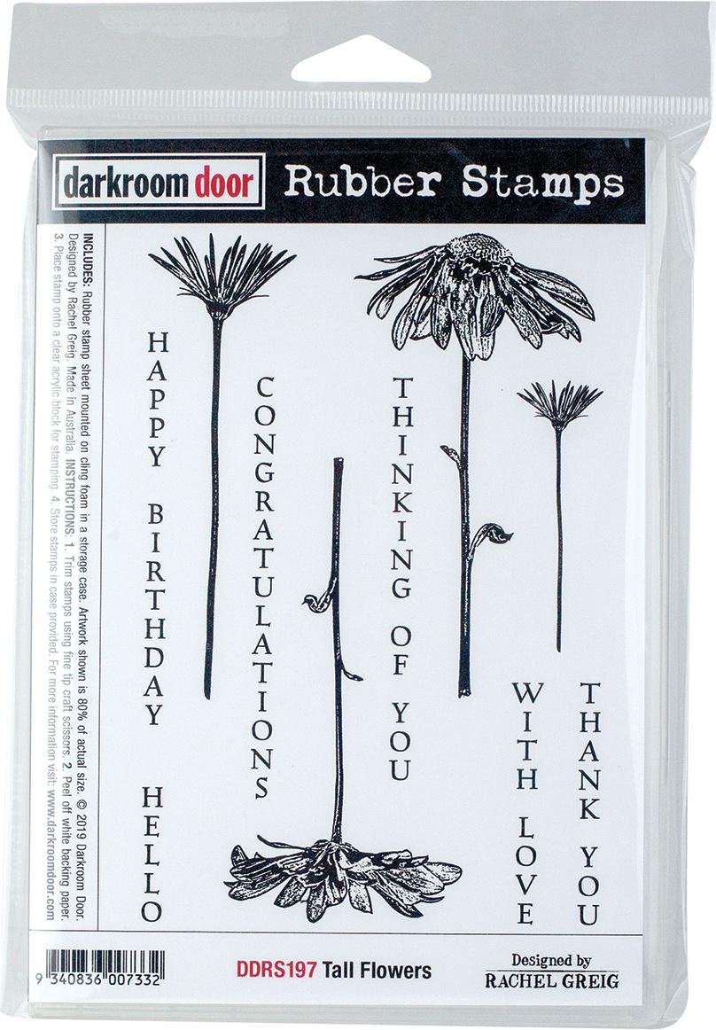 Darkroom Door Cling Stamps 7X5-Tall Flowers