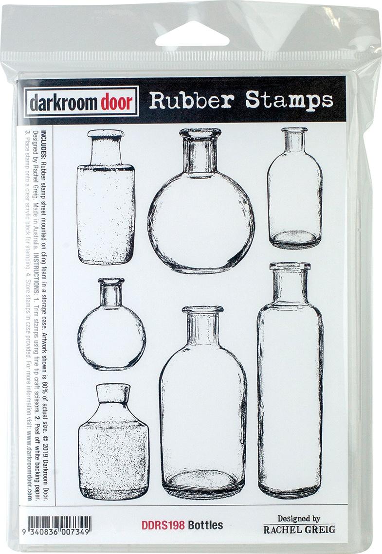 Darkroom Door Cling Stamps 7X5-Bottles