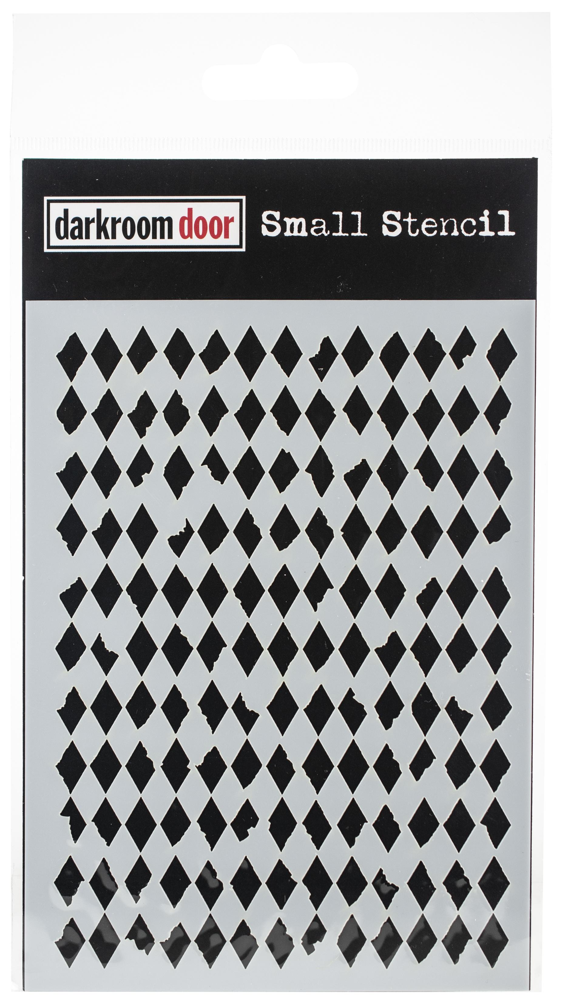 Darkroom Door Stencil 4.5X6-Diamonds