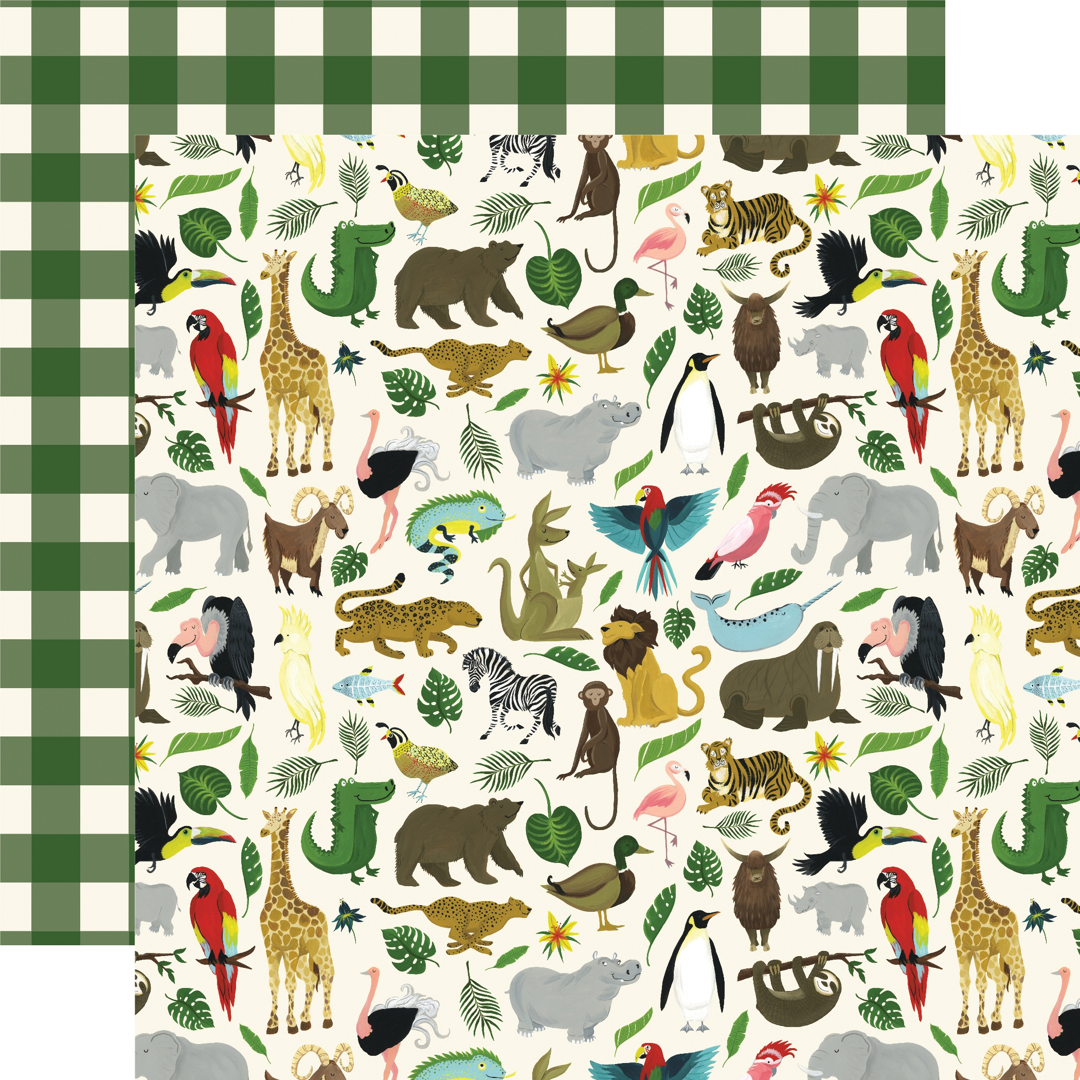 Animal Safari Double-Sided Cardstock 12X12-It's A Zoo