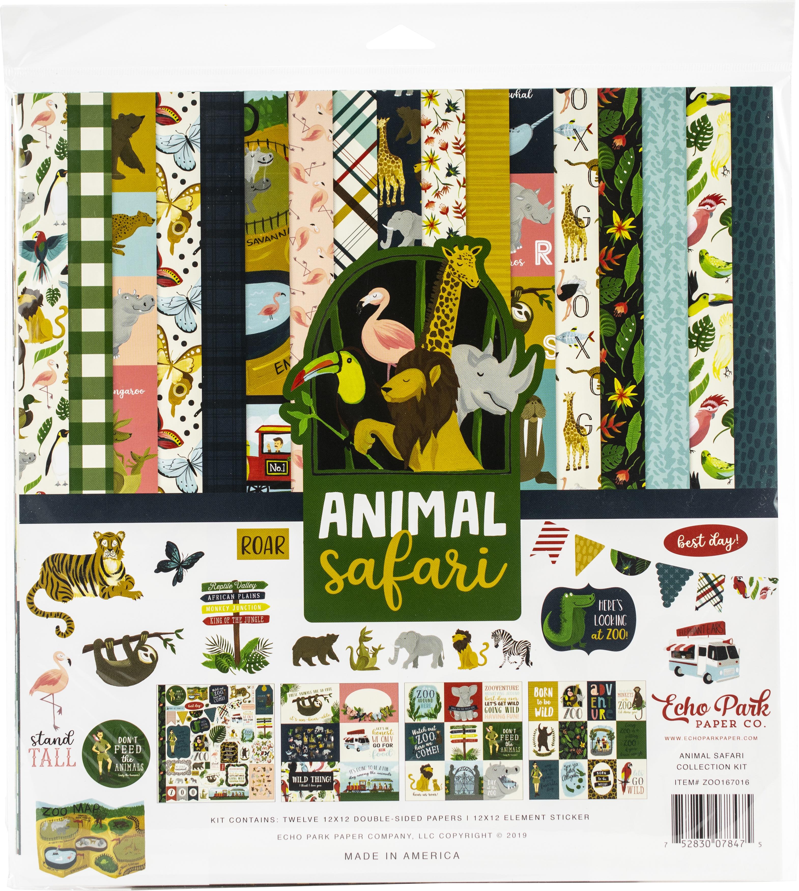 Echo Park Collection Kit 12X12-Animal Safari