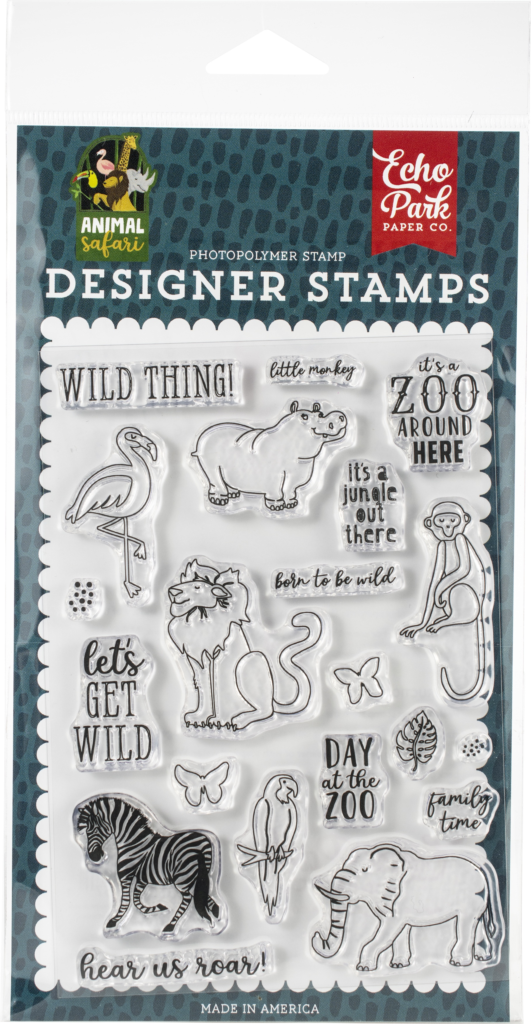 Echo Park Stamps-Wild Thing