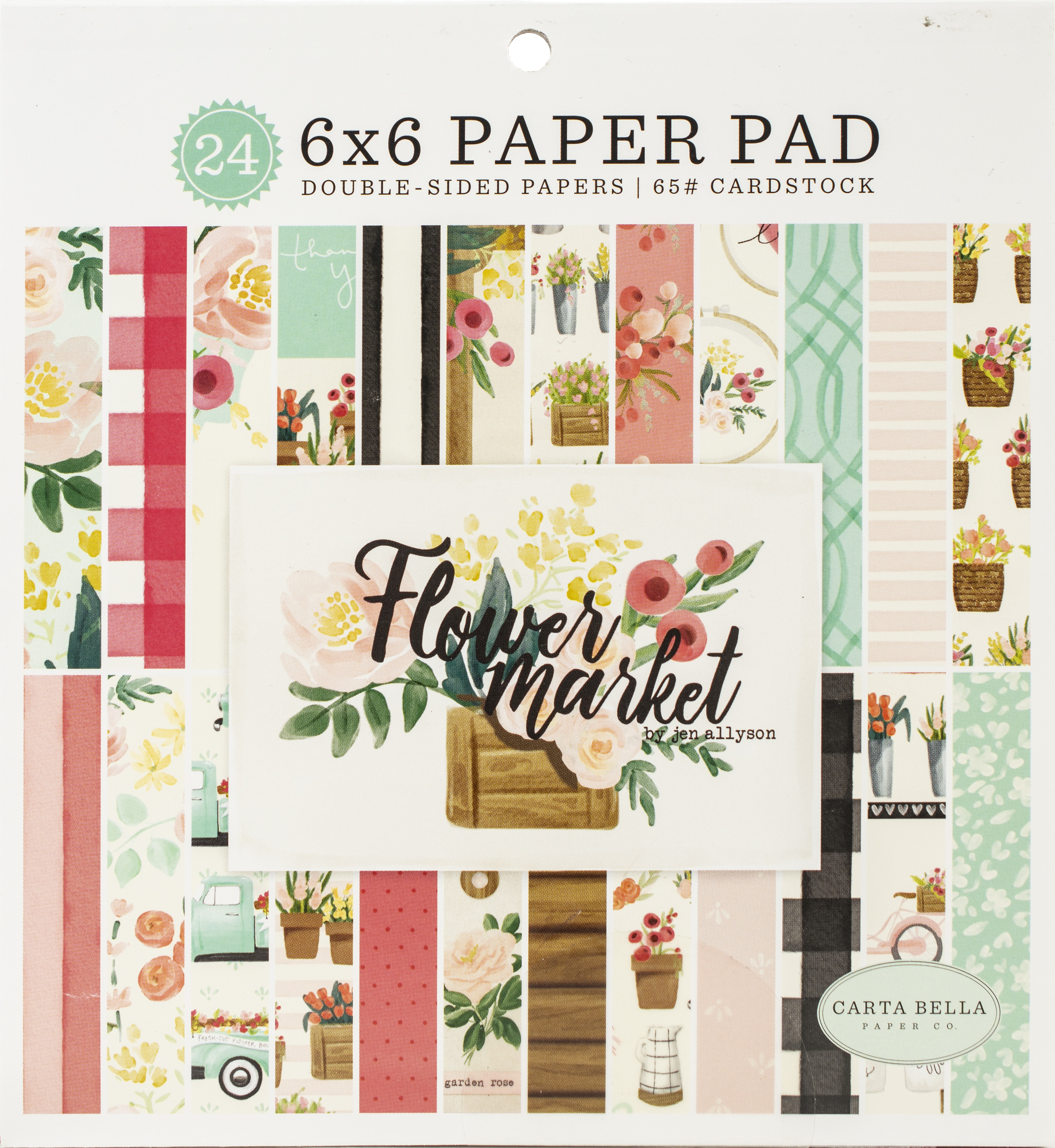 Carta Bella Flower Market - 6x6 Paper Pad