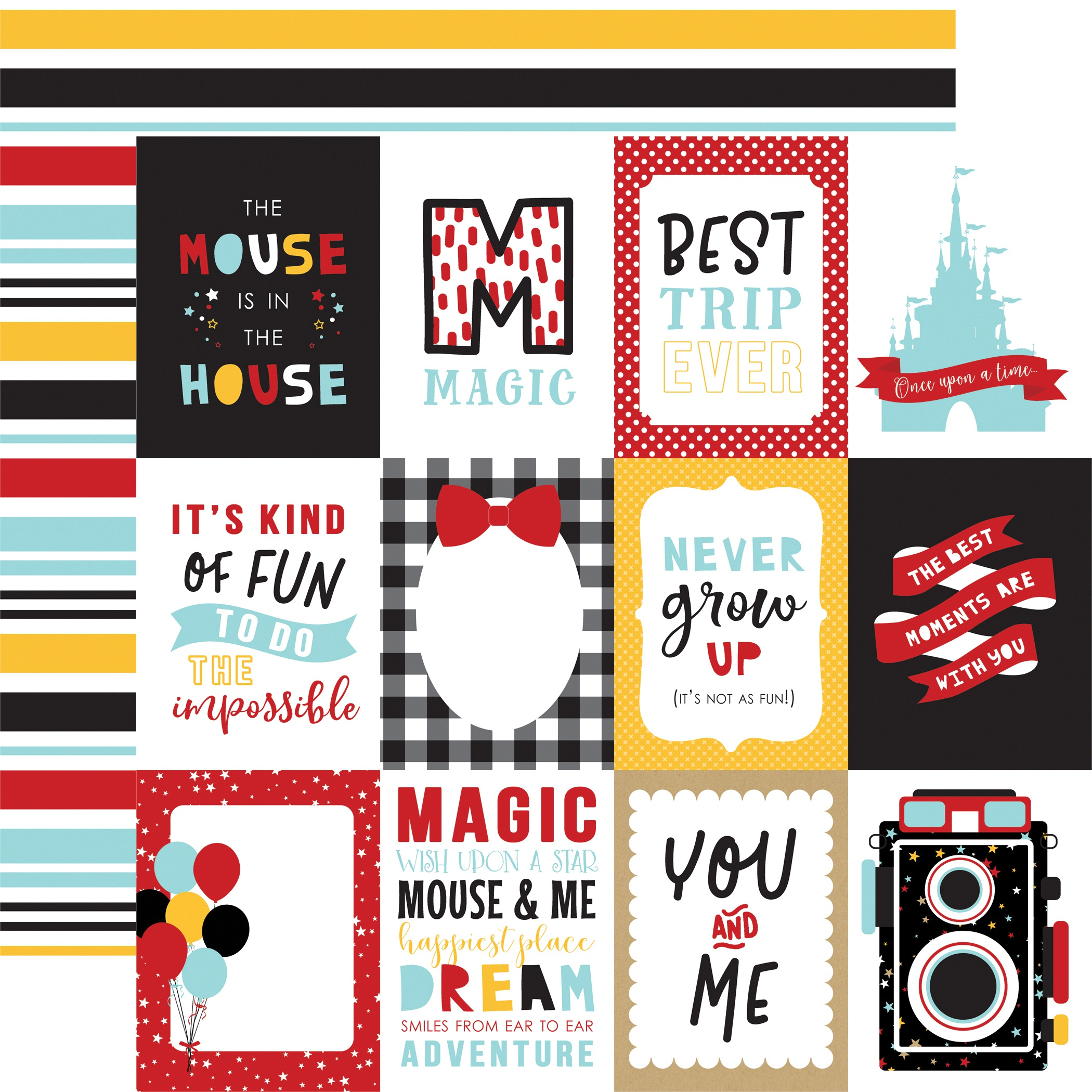 Magical Adventure 2 Double-Sided Cardstock 12X12-3X4 Journaling Cards