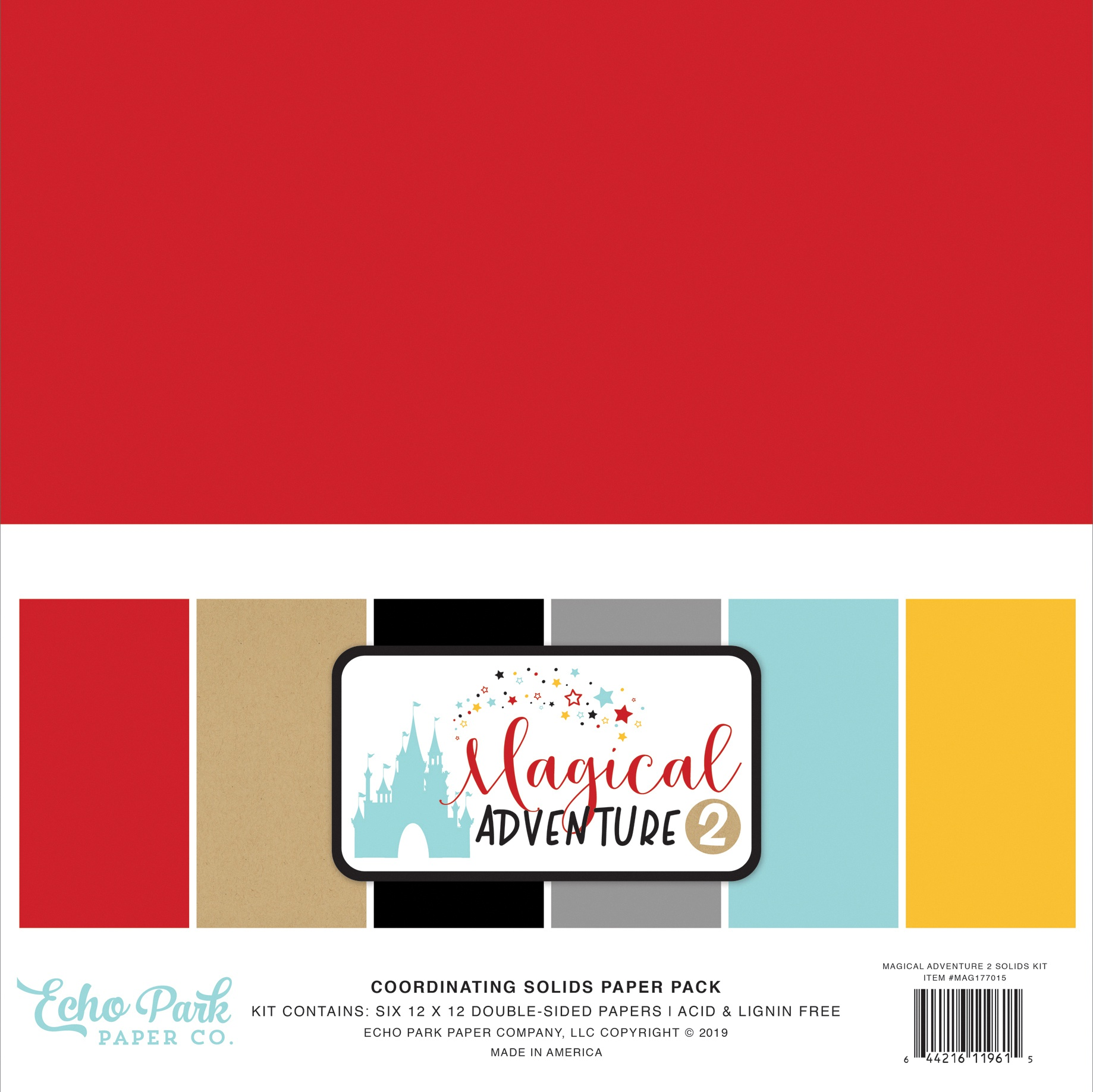 Magical Adventure 2 Solids - Echo Park Double-Sided Solid Cardstock 12X12