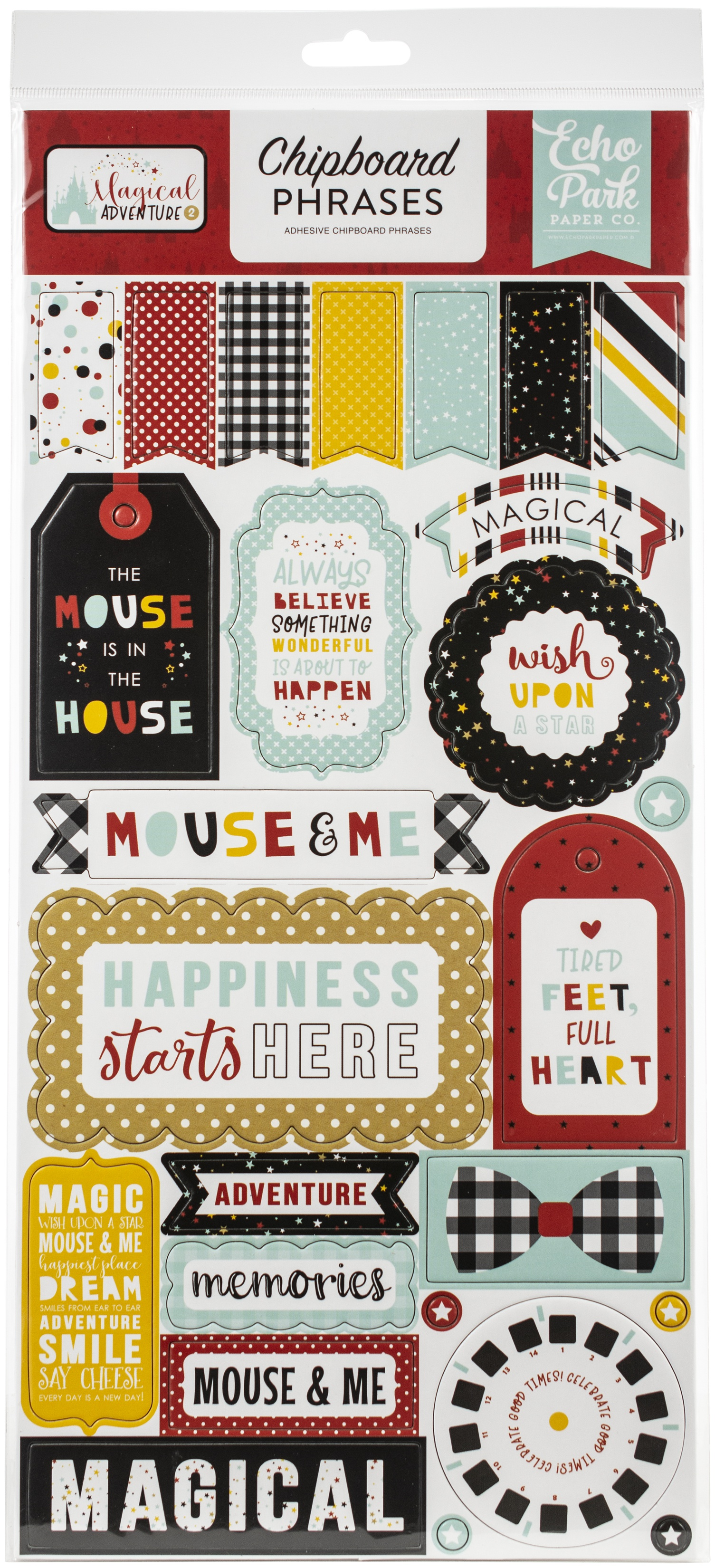 Magical Adventure 2 Chipboard 6X13-Phrases