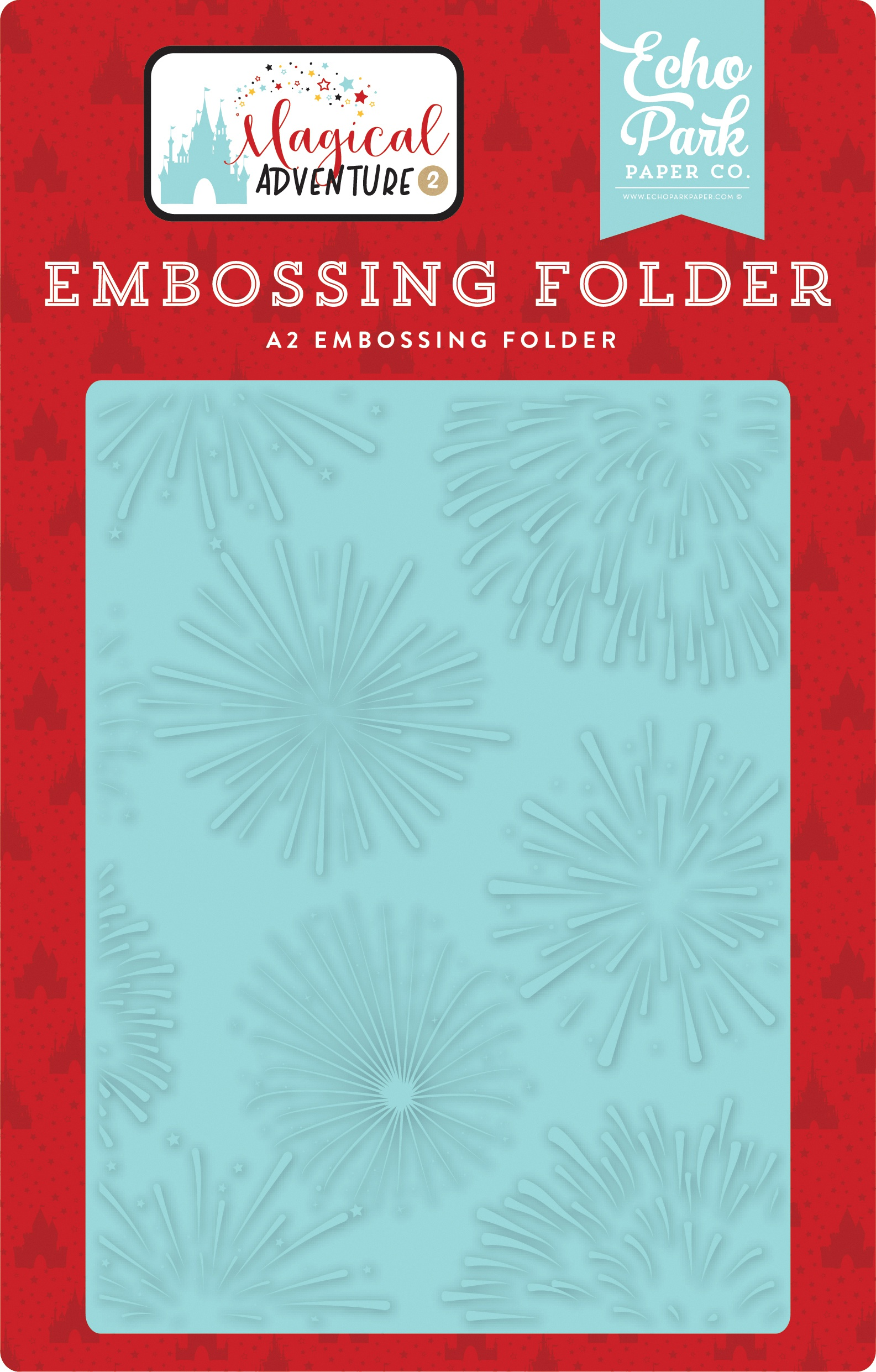 Echo Park Embossing Folder A2-Firework Magic