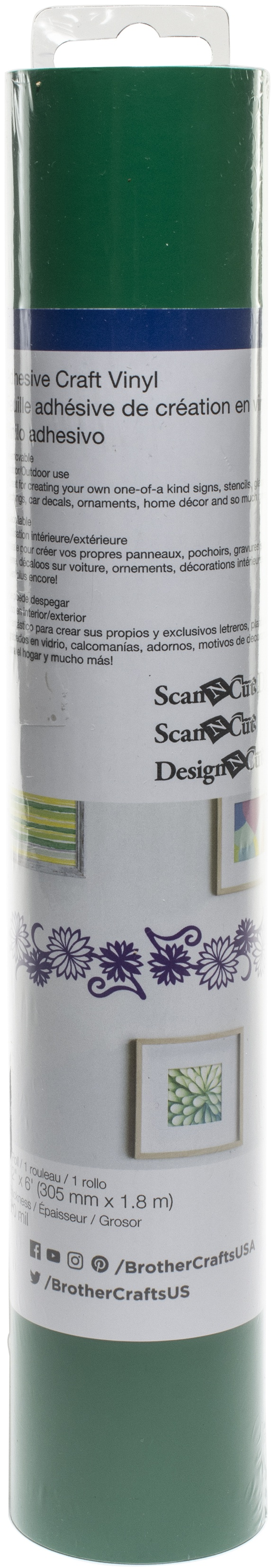 Brother ScanNCut SDX125 Adhesive Craft Vinyl Roll 6ft-Green