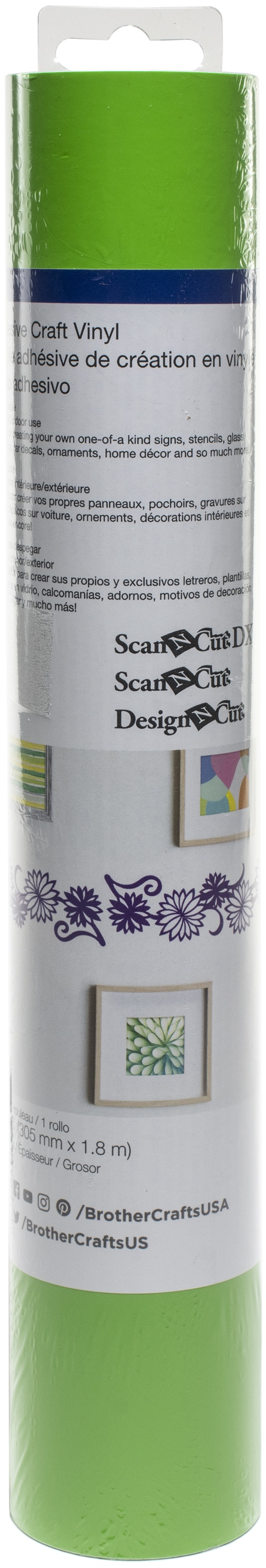 Brother ScanNCut SDX125 Adhesive Craft Vinyl Roll 6ft-Lime Green