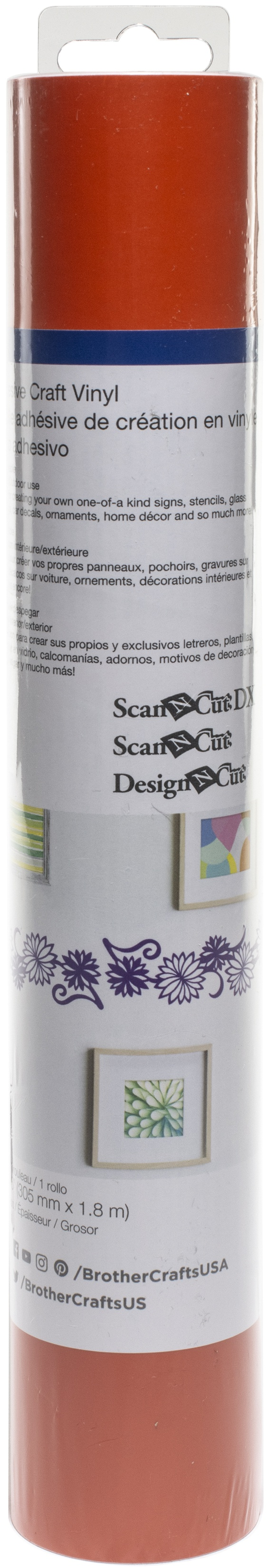 Brother ScanNCut SDX125 Adhesive Craft Vinyl Roll 6ft-Orange