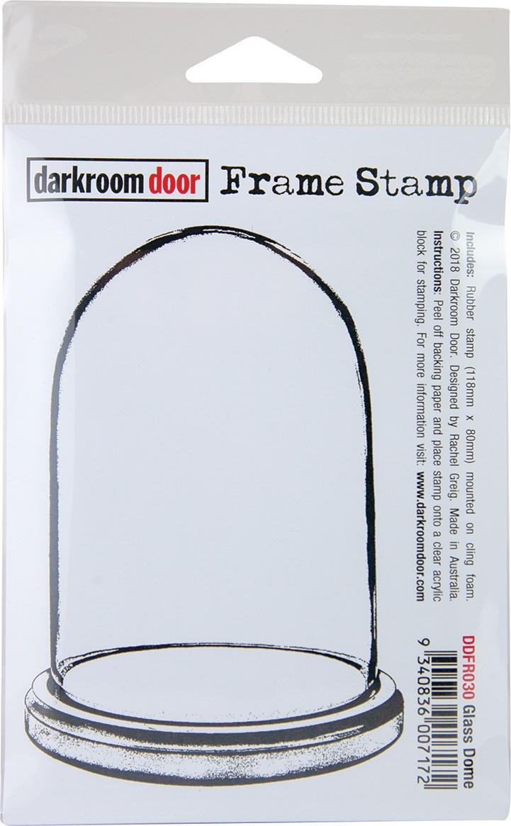Darkroom Door Frame Cling Stamp 4.6X3-Glass Dome