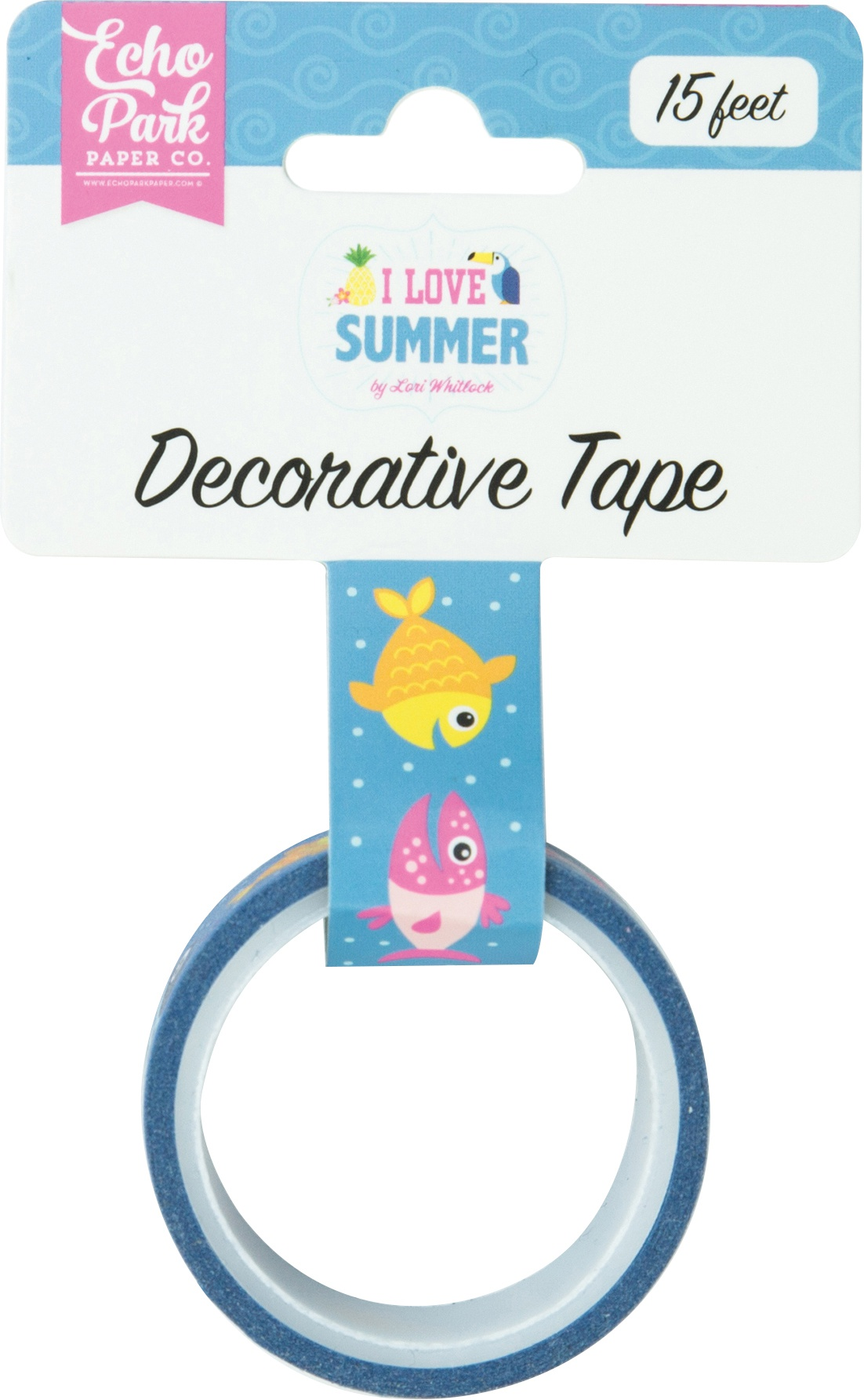 I Love Summer Decorative Tape 15'-Summer Splash