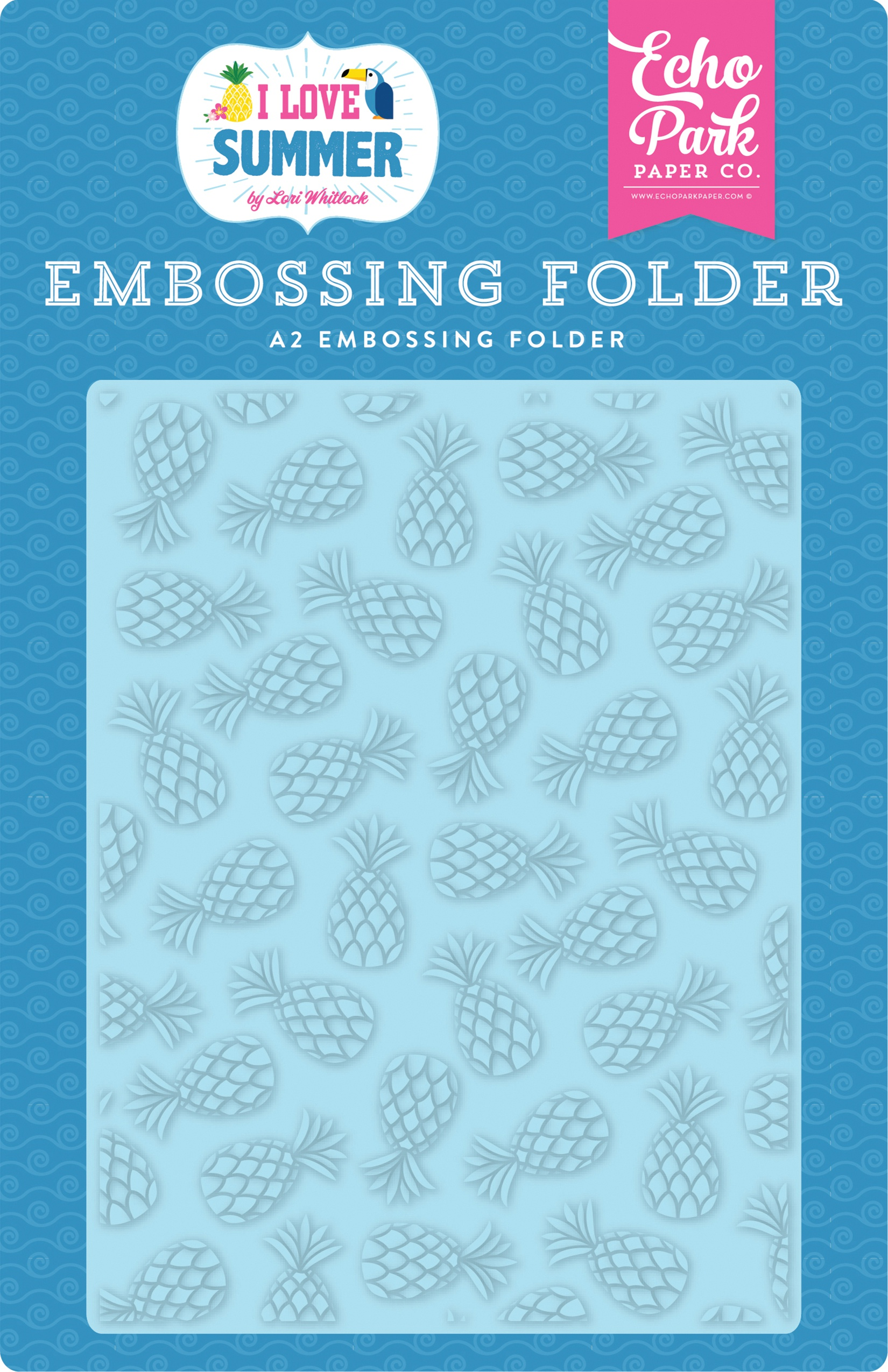 Echo Park Embossing Folder A2-Summer Pineapples