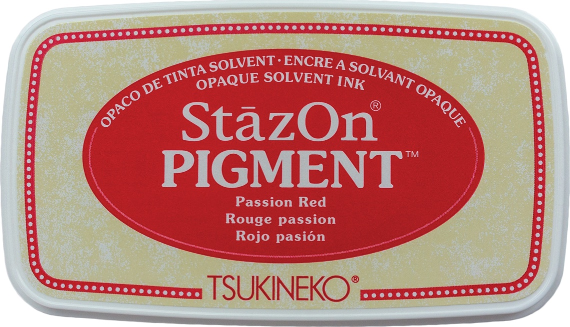 StazOn Pigment Ink Pad-Passion Red