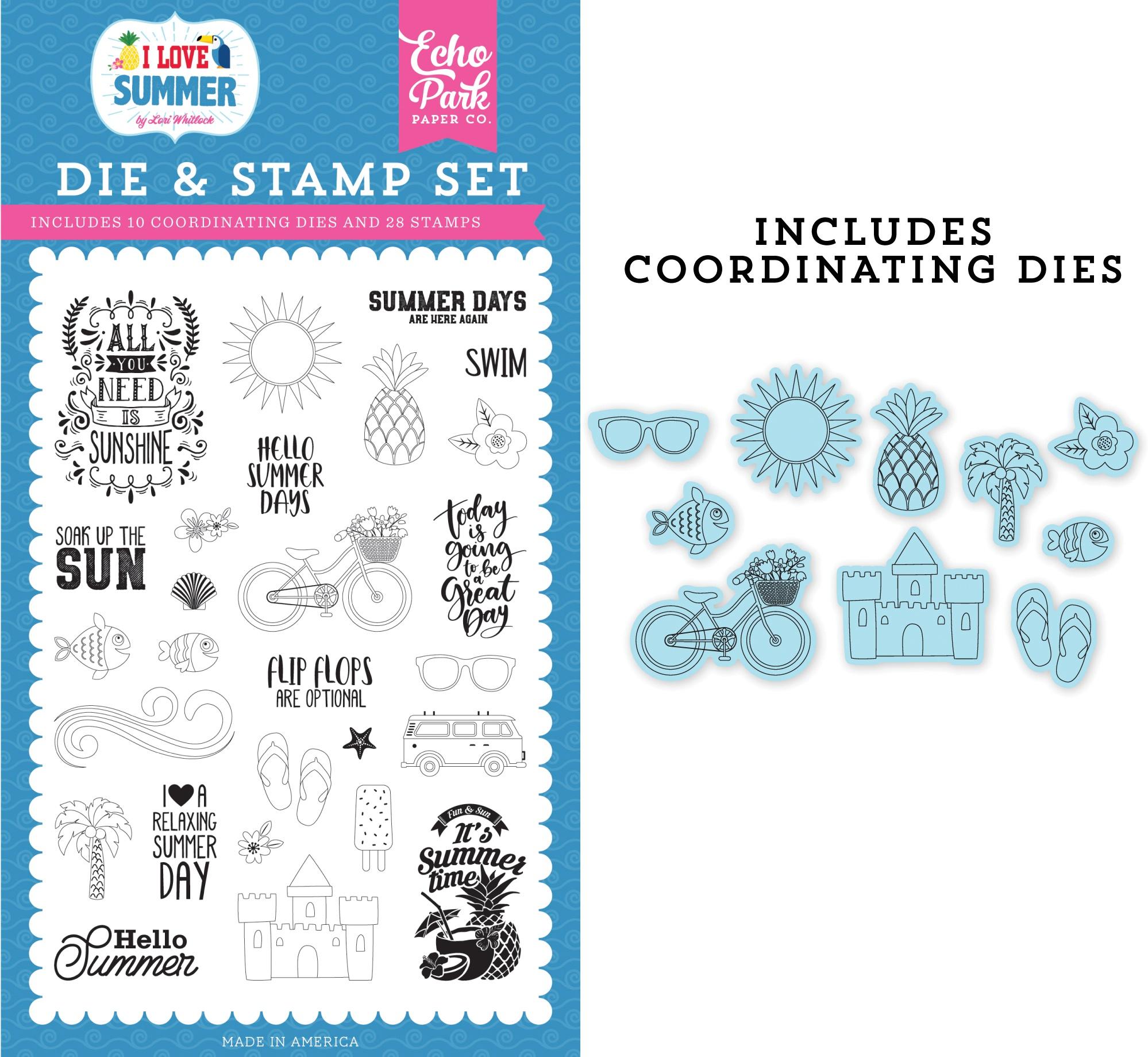 It's Summer Time Stamp Die Set
